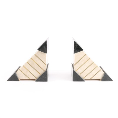 Angular Marble Bookends