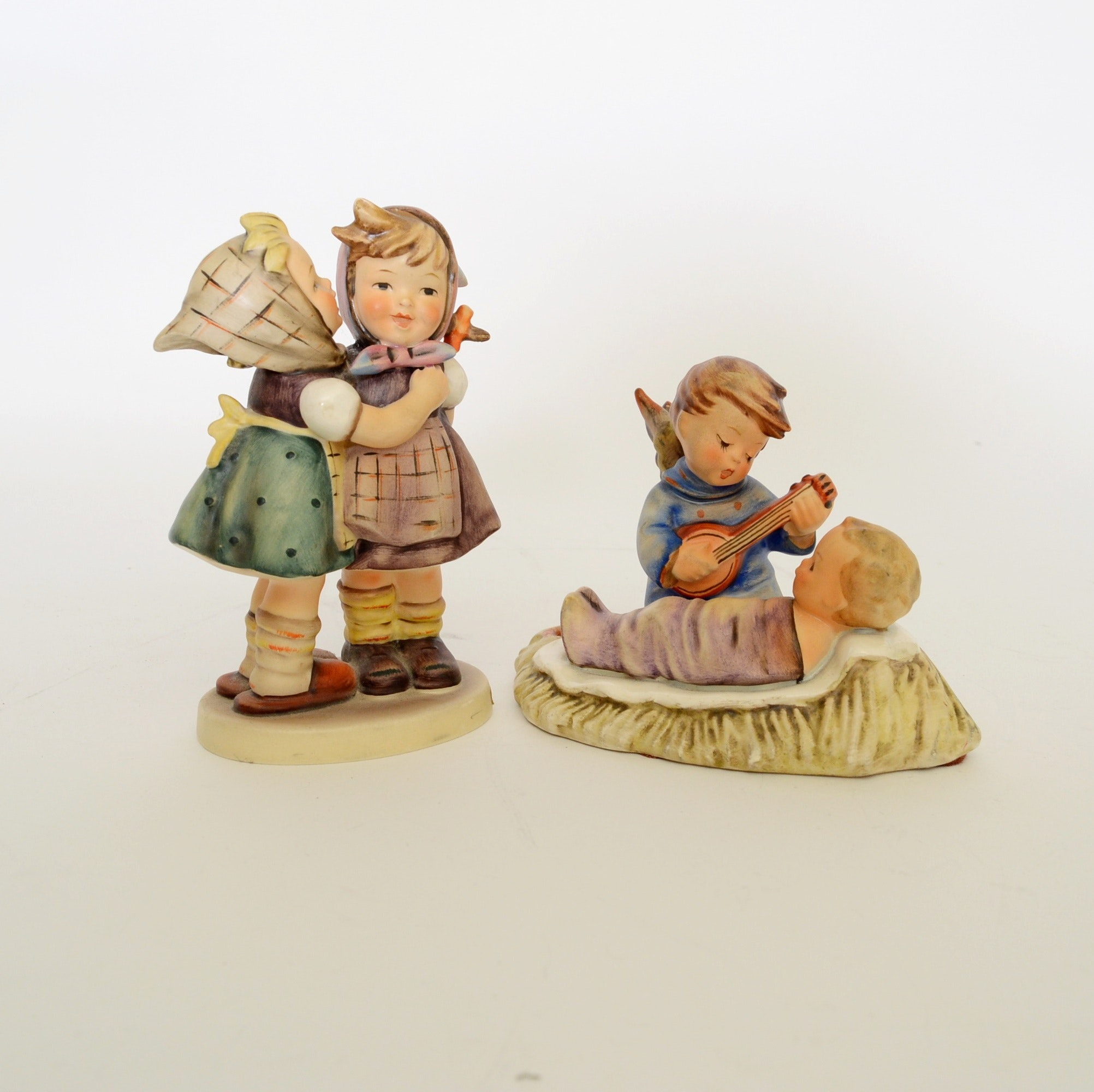 "Goebel Hummel Figurine ""Telling Her Secret"" c.1948"