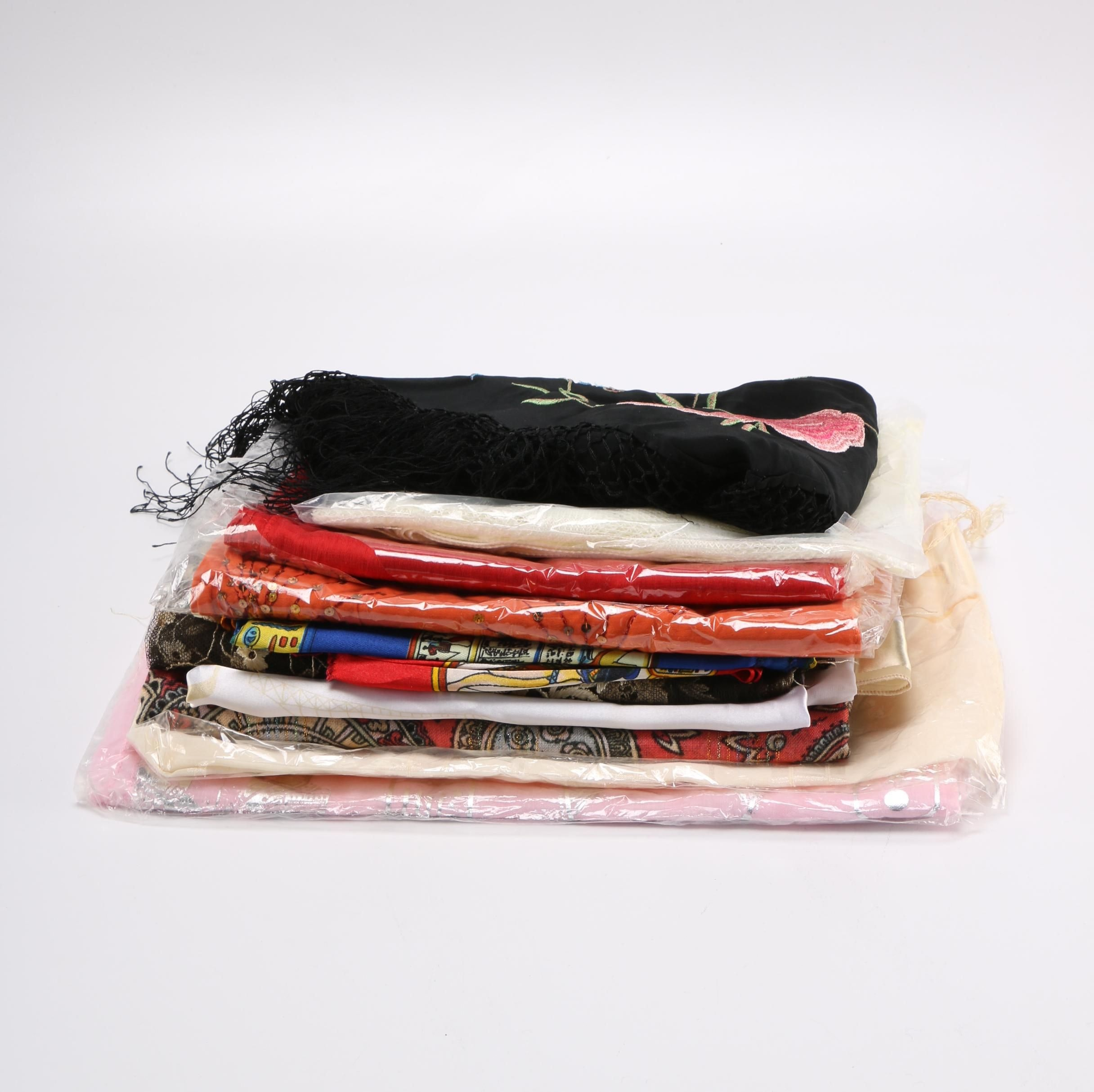 Purse and Fashion Scarf Assortment Including Laura Scott