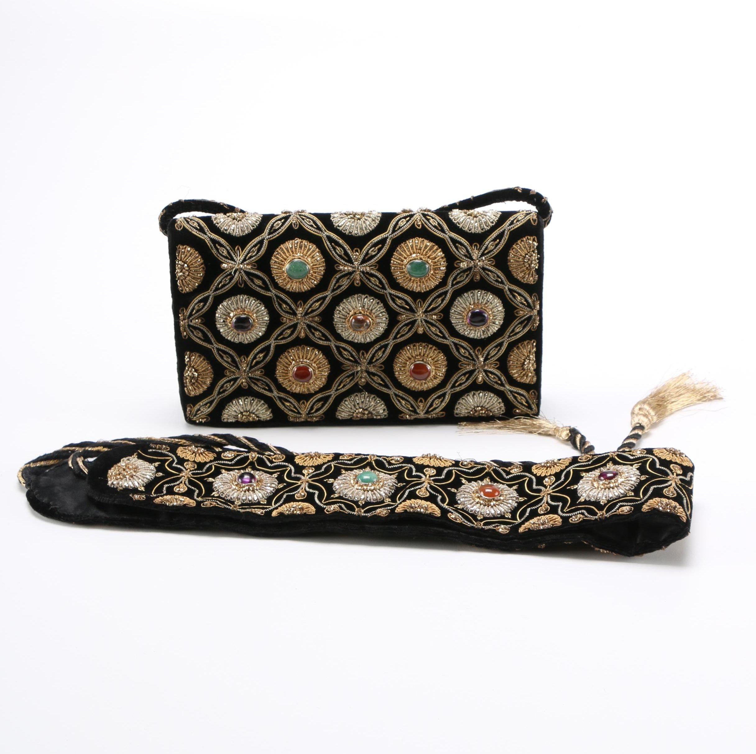 Vintage Hand Bag And Belt Set
