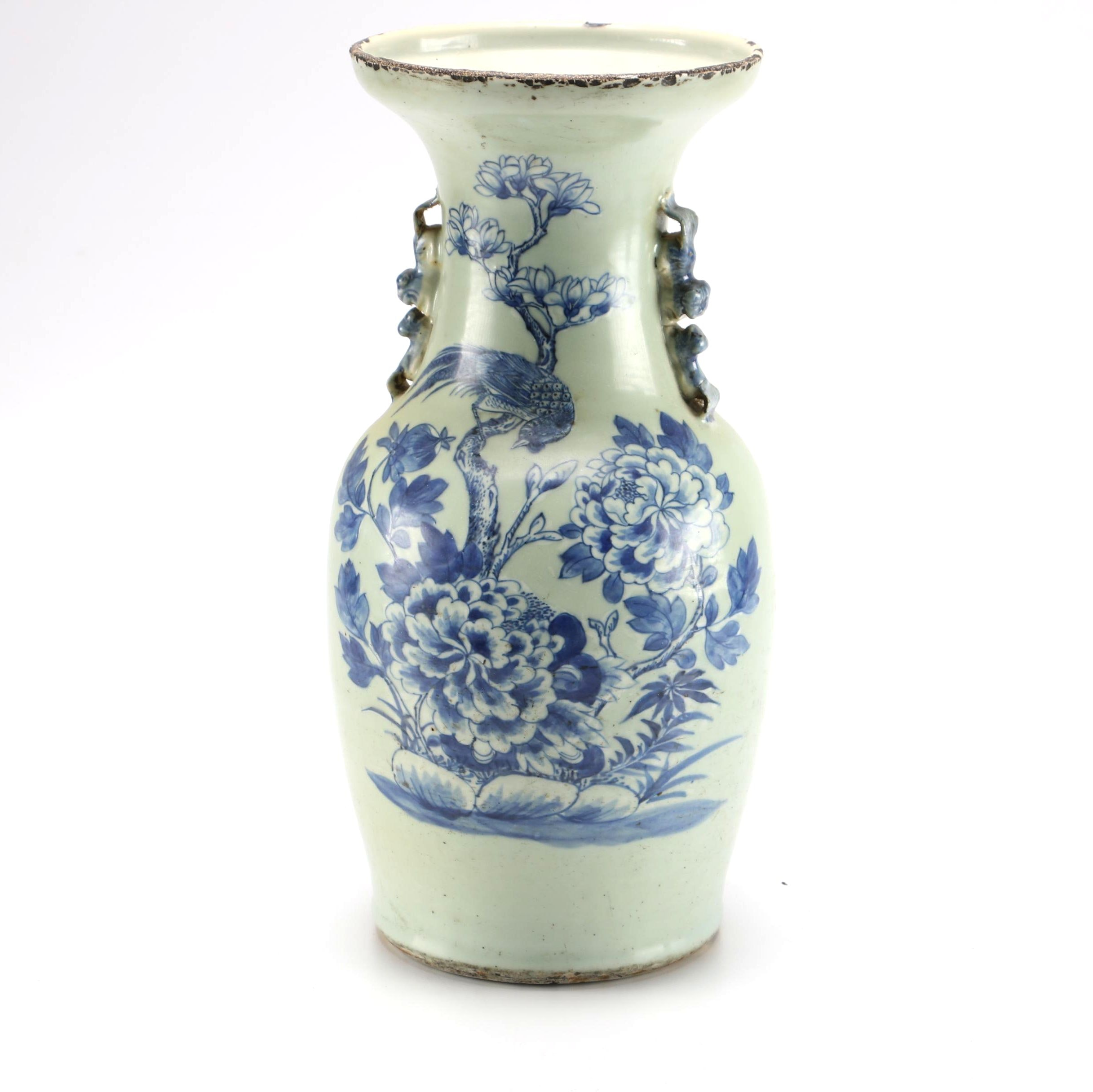 Early 20th Century Chinese Blue and White Ceramic Vase