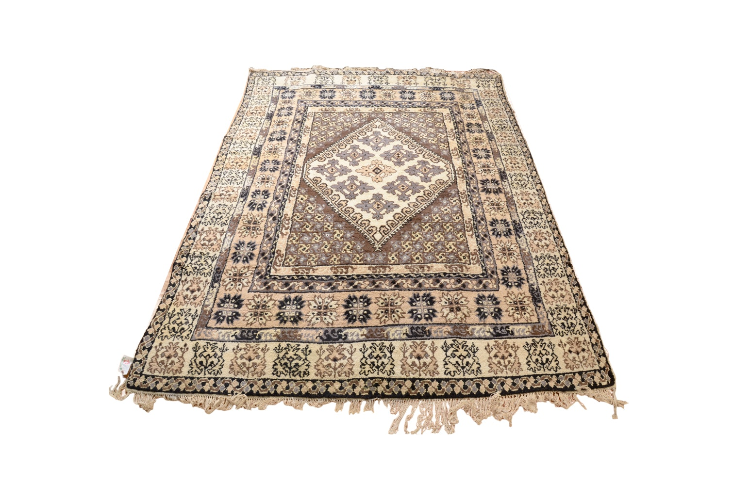 1950s Hand-Knotted Tunisian Wool Rug