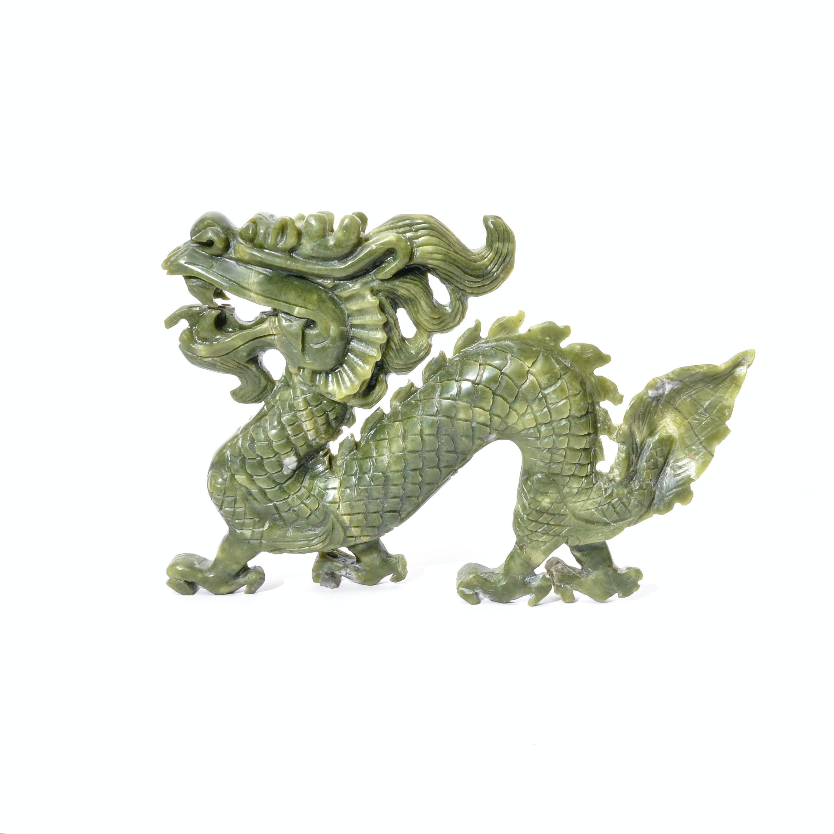 Chinese Carved Jadeite Dragon