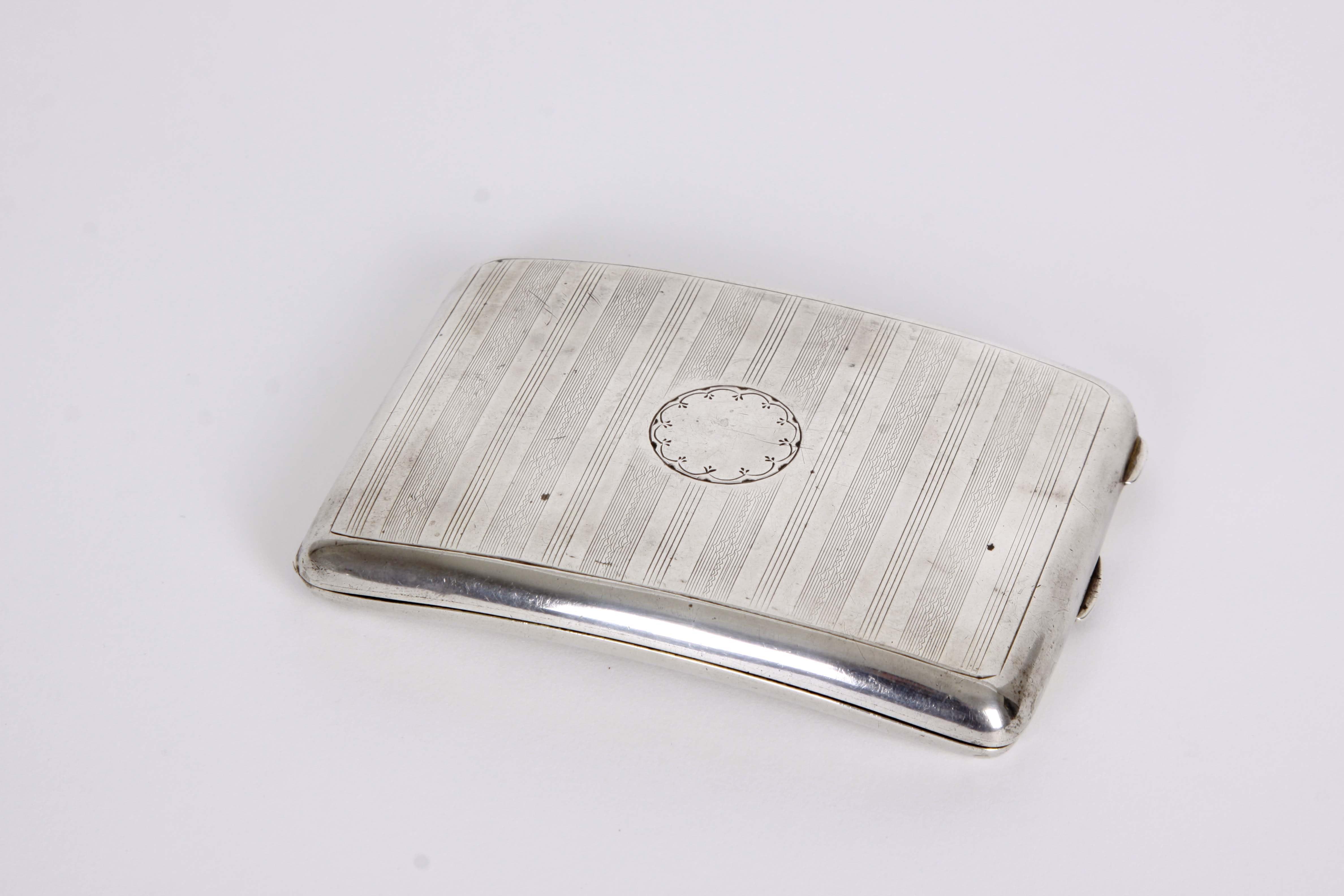1926 Charles Edwin Turner Sterling Silver Cigarette Case