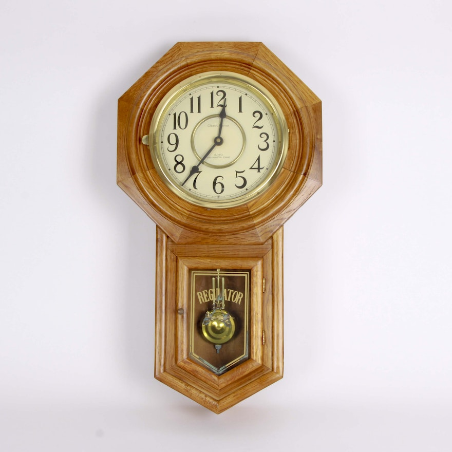 Regulator Classic Manor Wall Clock Ebth