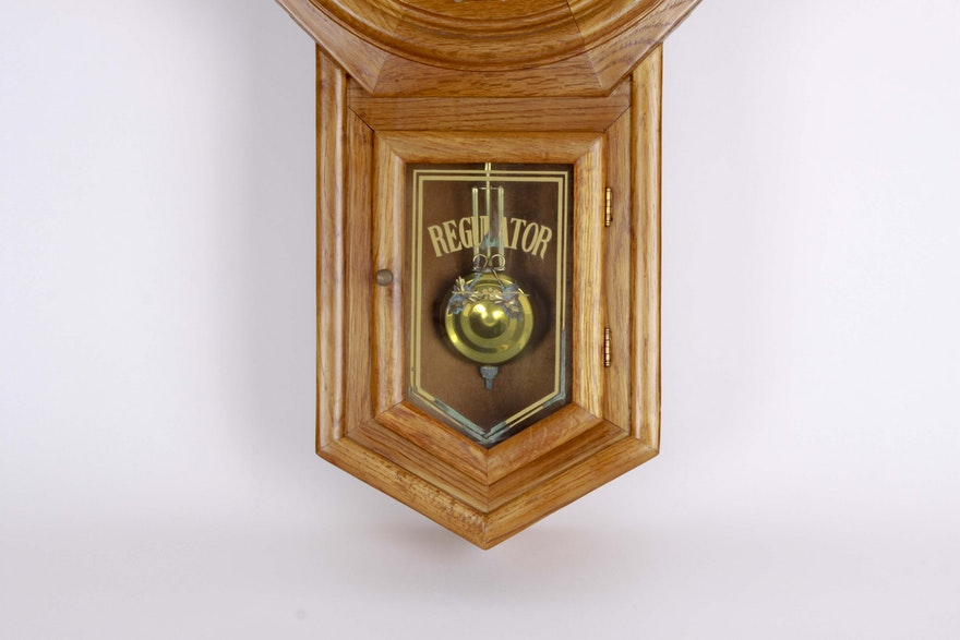 Regulator Classic Manor Wall Clock Ebth