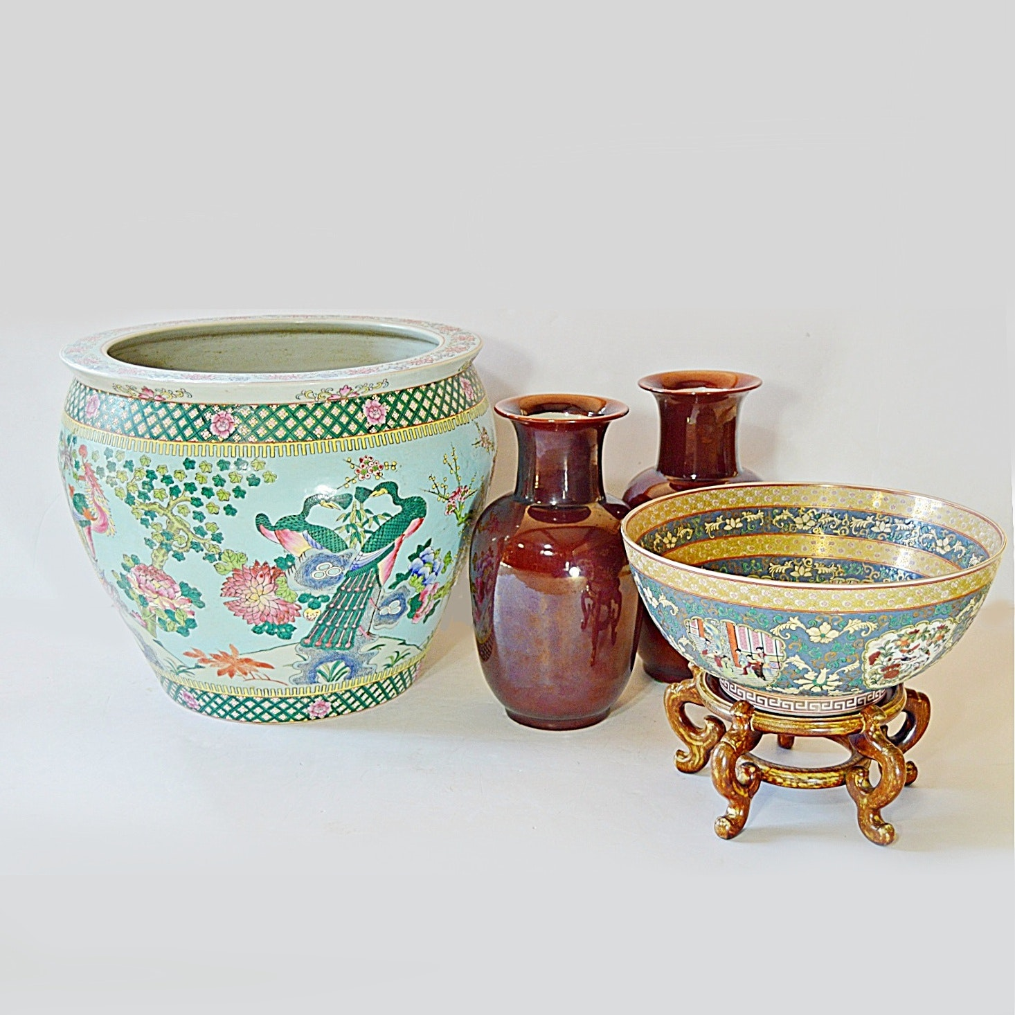 Chinese and Japanese Porcelain Vases and Planters