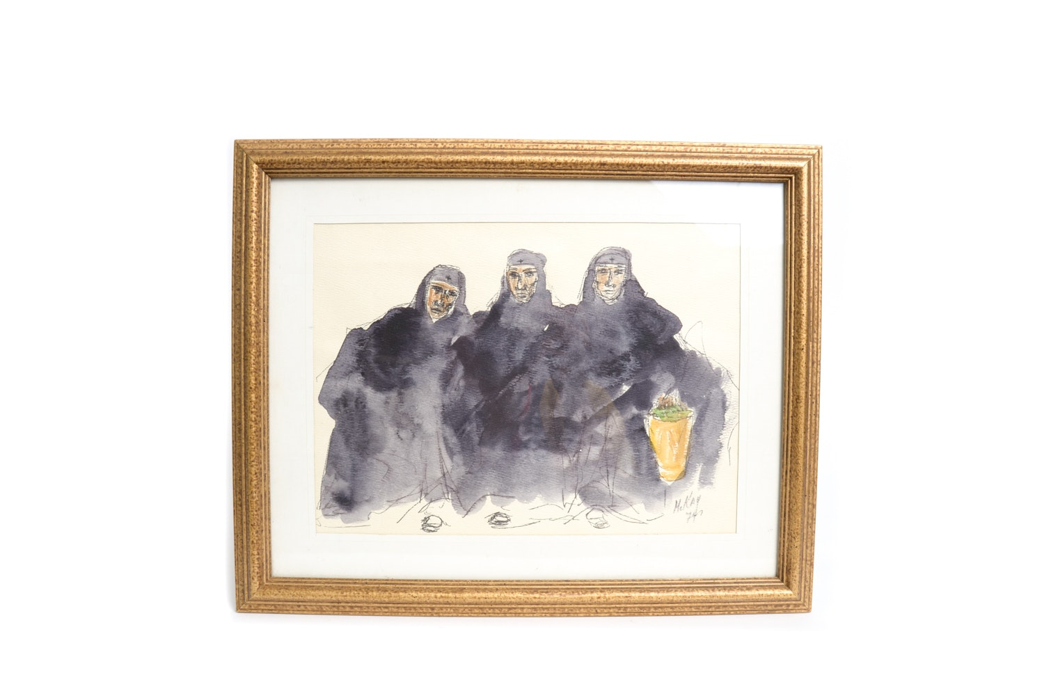 Original Watercolor and Ink Painting Signed McKay