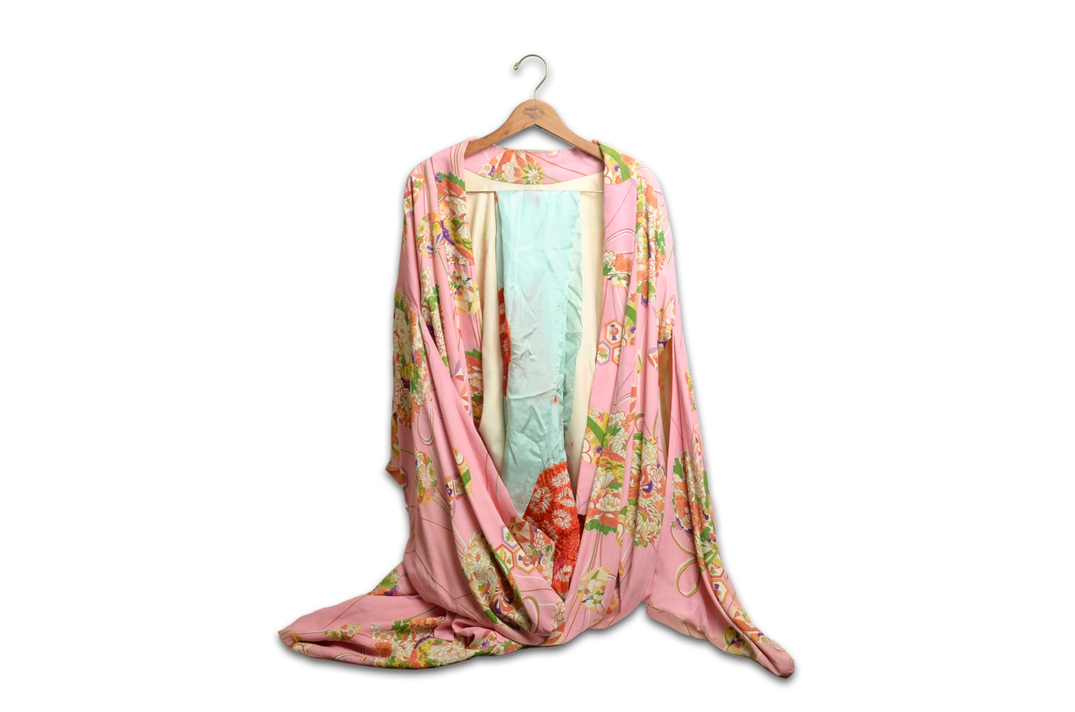Japanese Silk Kimono from the 1950s