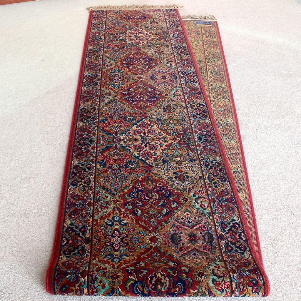 "Karastan ""Kirman"" Machine Made Wool Carpet Runner"