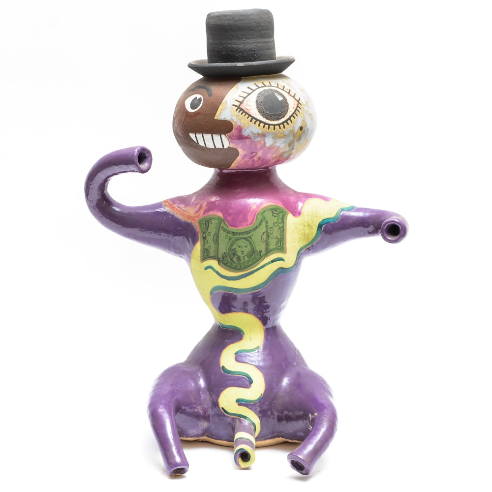 """Max Lehman Ceramic Sculpture """"George"""""""