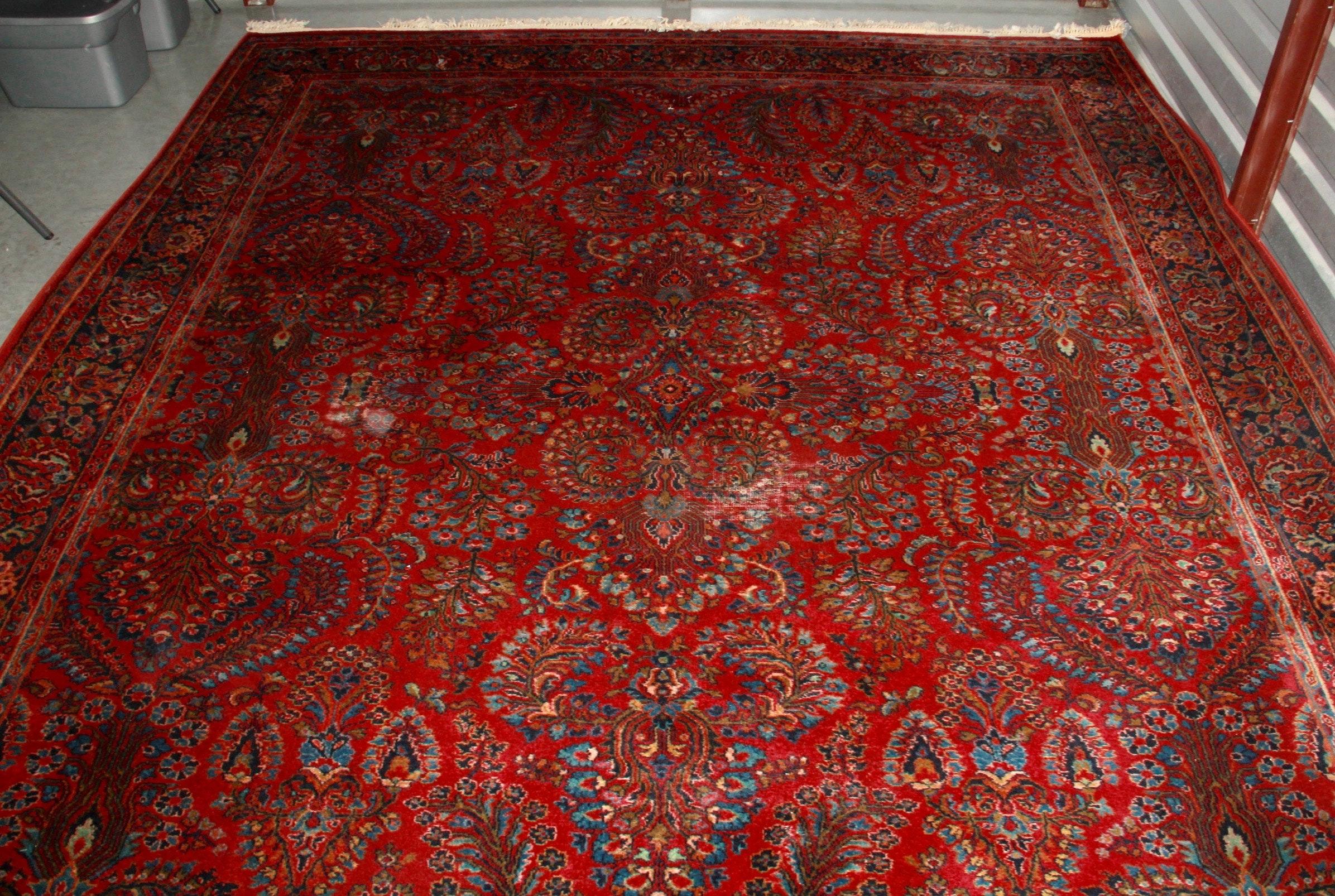"Machine Woven Karastan ""Sarouk"" Wool Area Rug"