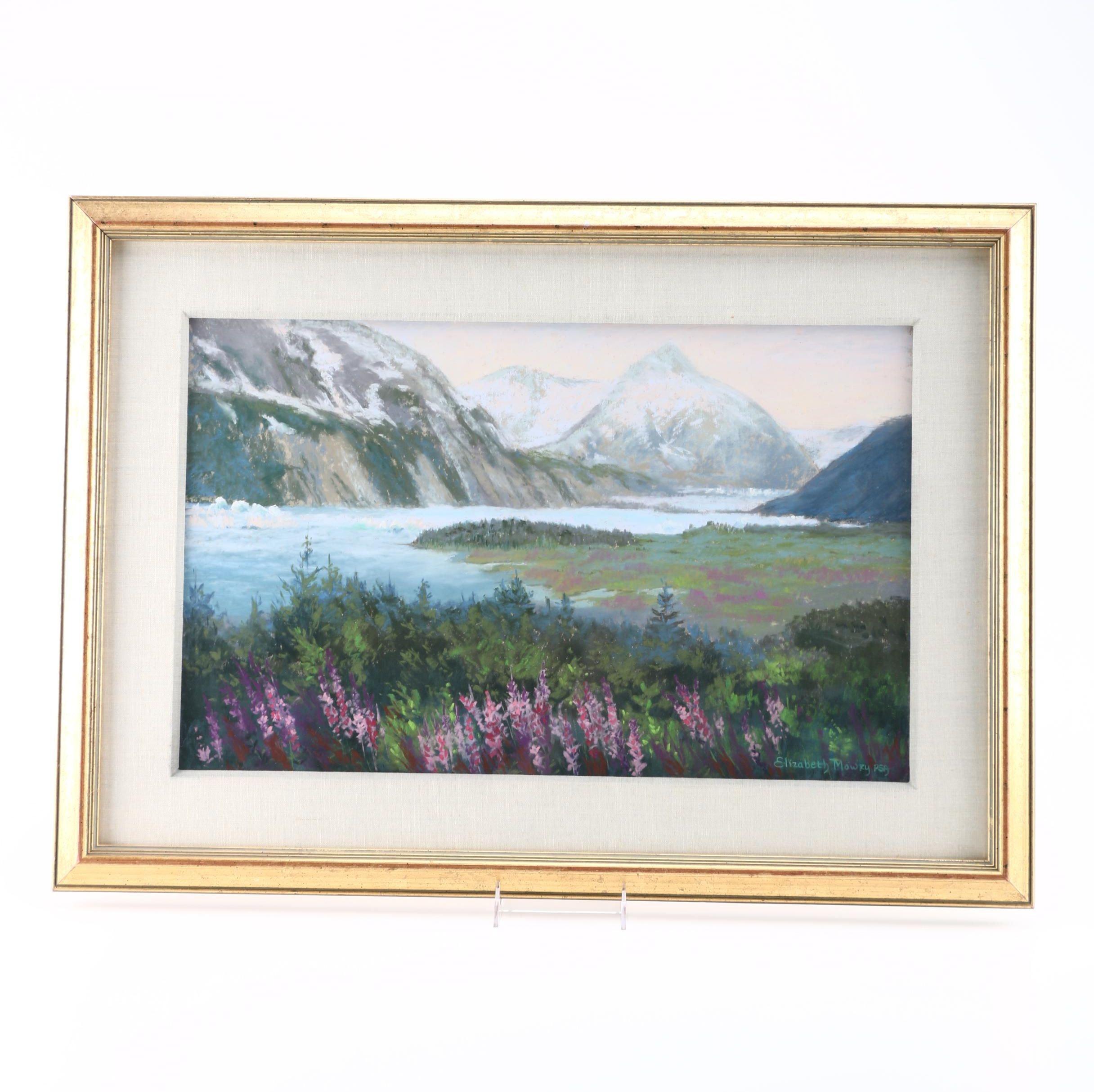 Elizabeth Mowry Original Pastel Drawing of Grasslands