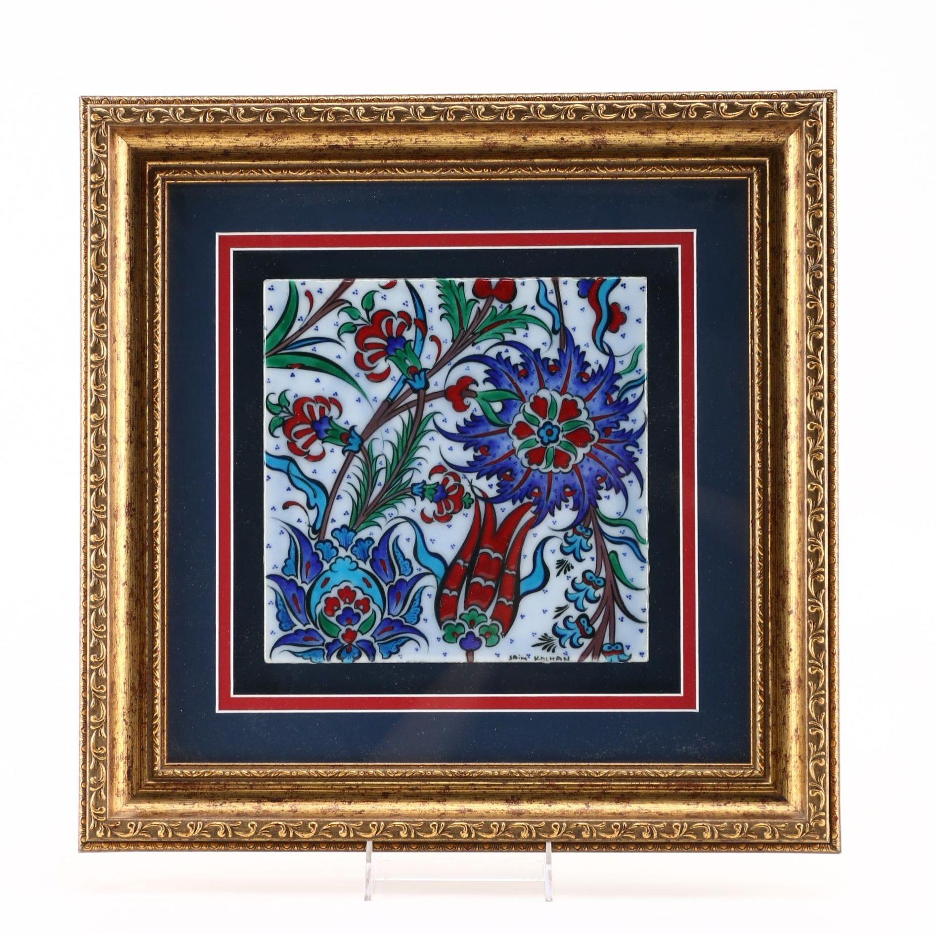 Saim Kolhan Turkish Hand-Painted Tile