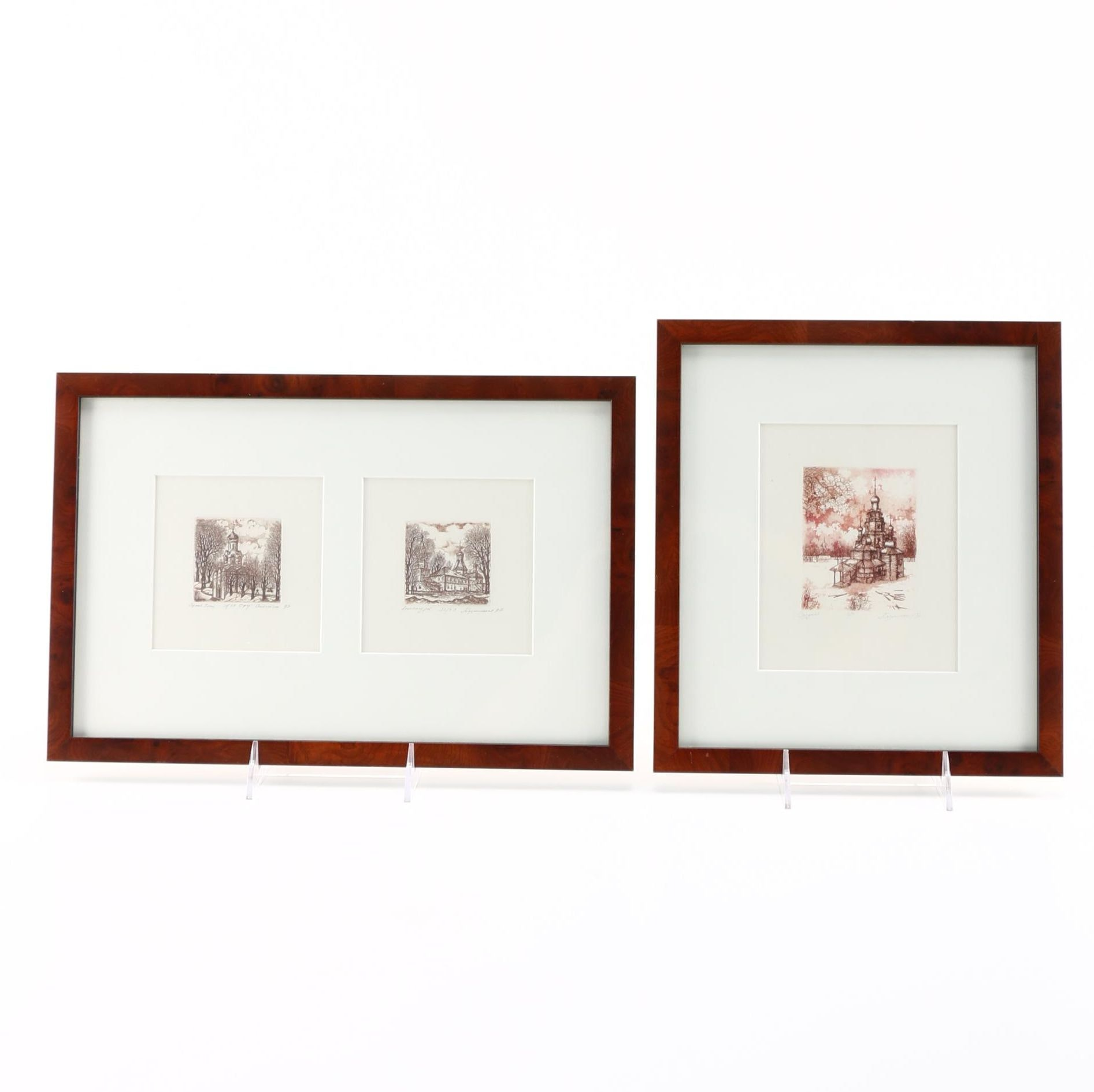 Collection of Limited Edition Russian Etchings