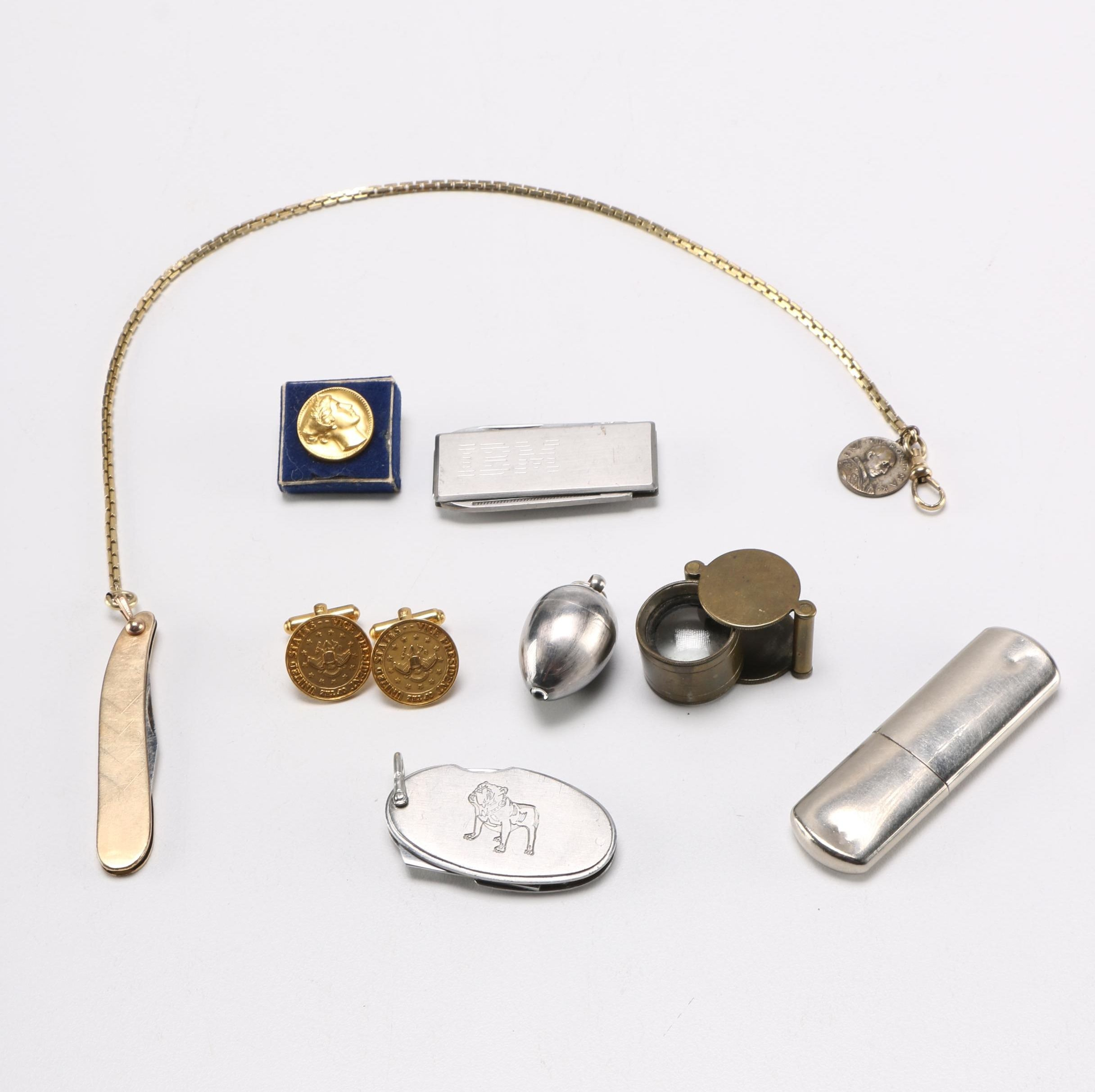 Diverse Accessory Assortment With Loupe