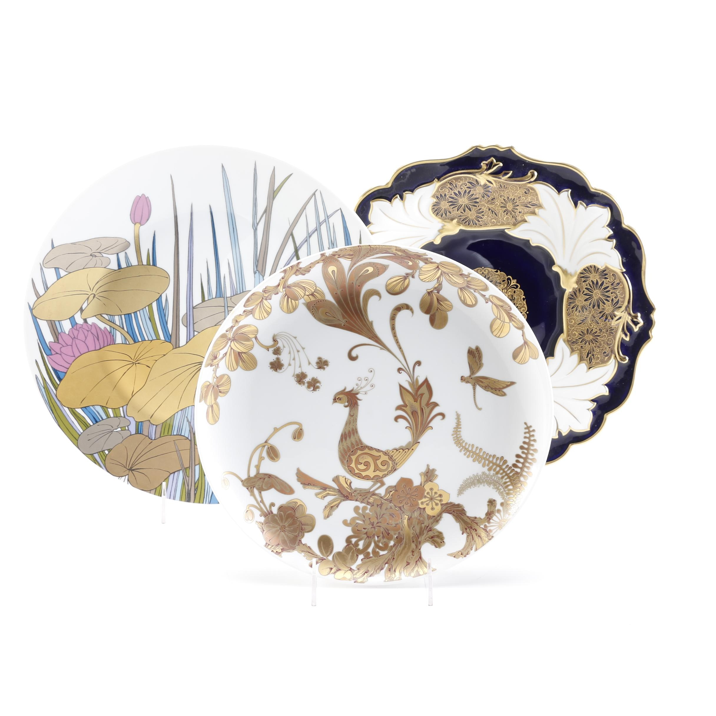Decorative Plate Assortment Featuring Rosenthal