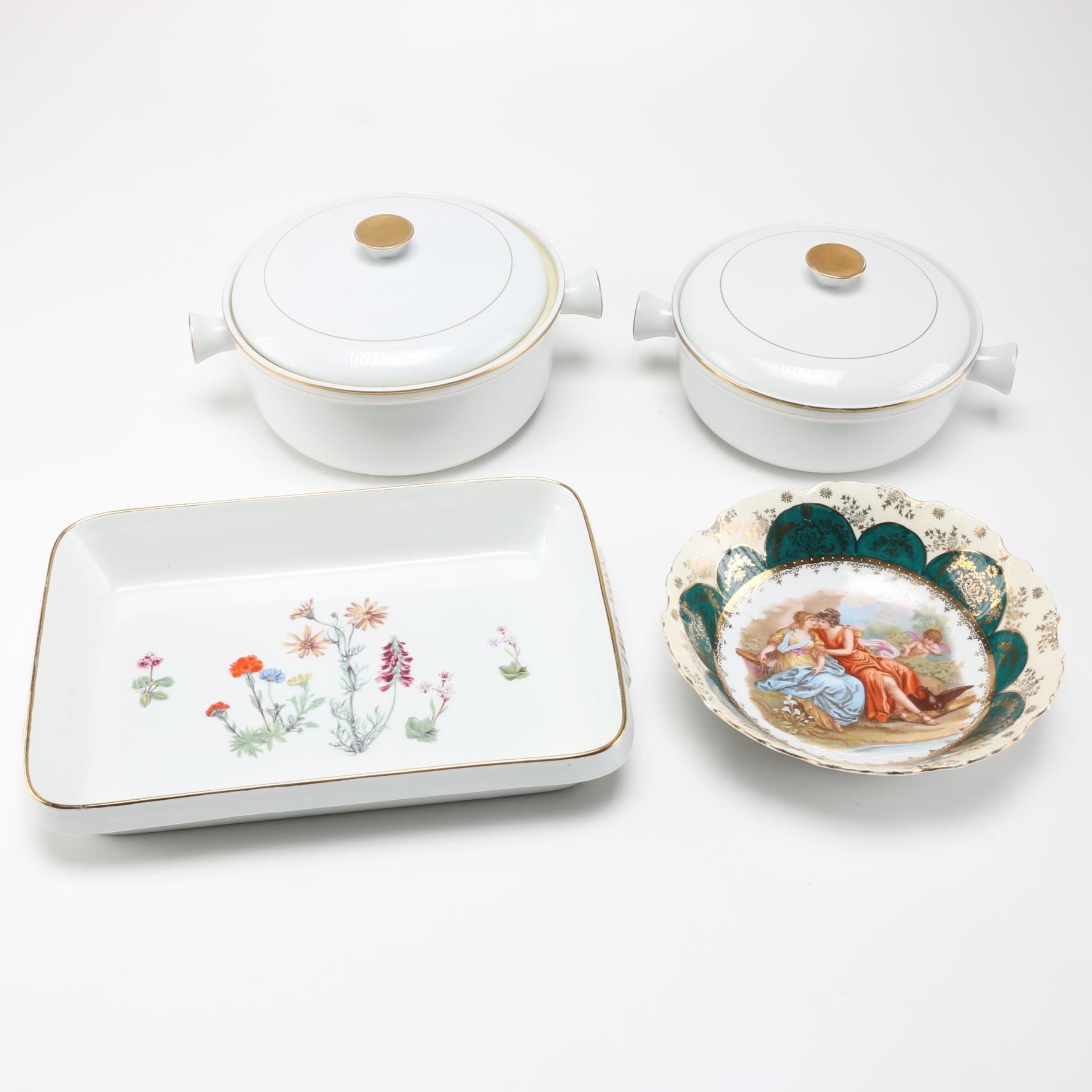 """Porcelain Cookware Featuring """"Le Faune"""" Lourioux"""