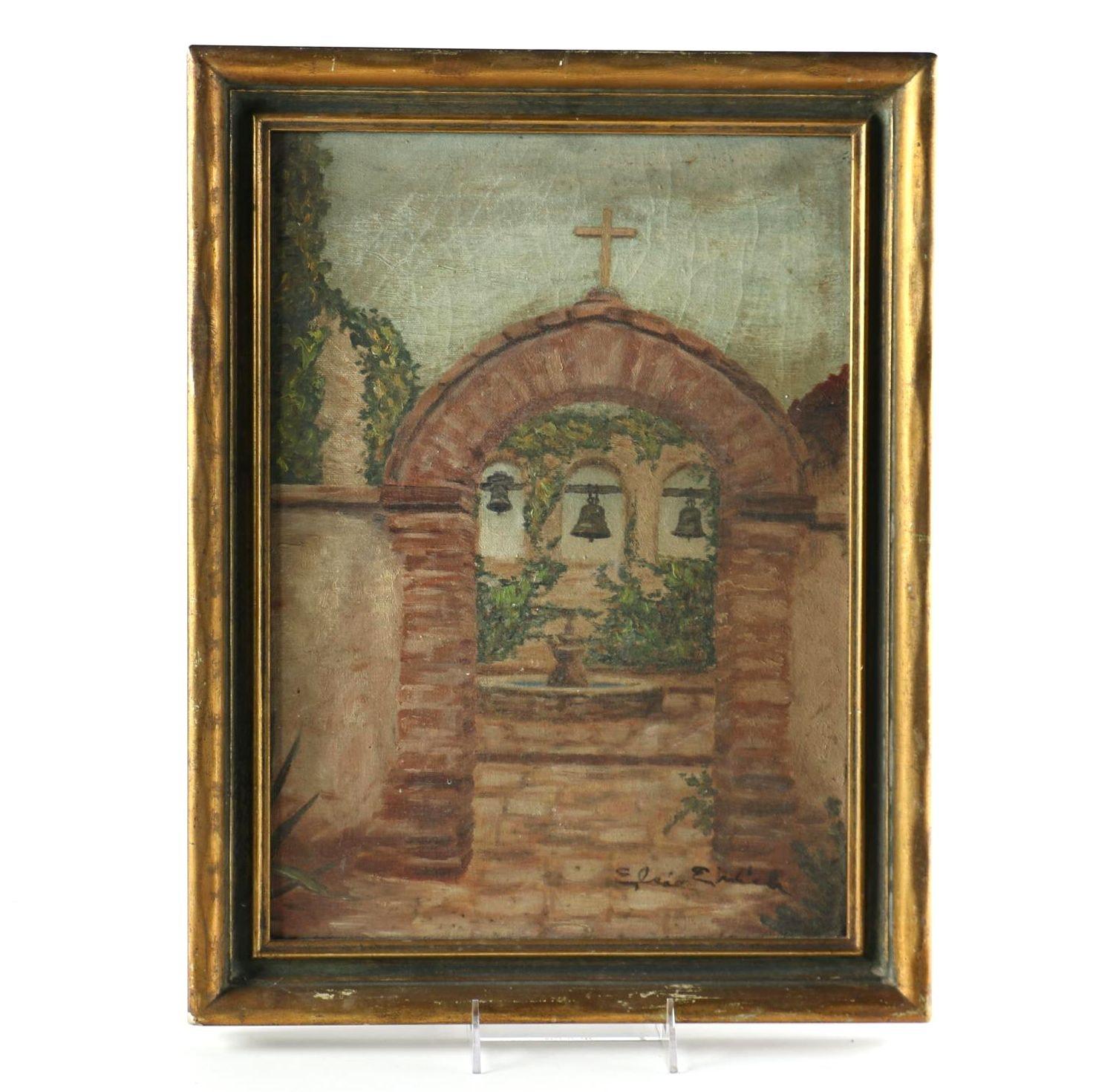 Elsie Ehrlich Oil on Canvas of Mission Bells