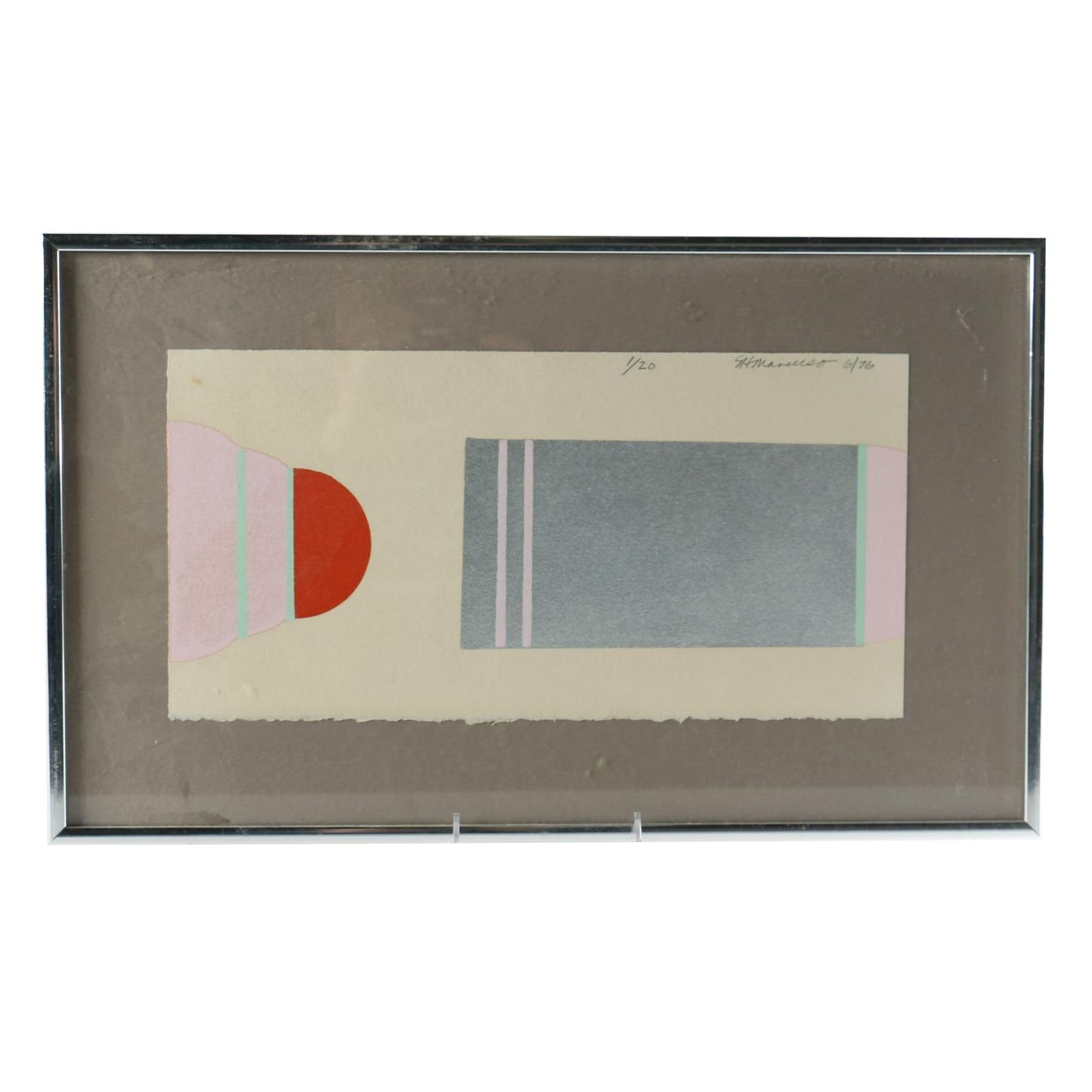 1976 Limited Edition Serigraph of Abstract Forms