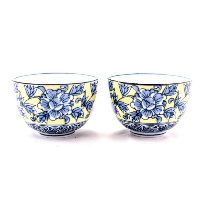 Pair of 20th Century Chinese Porcelain Cups