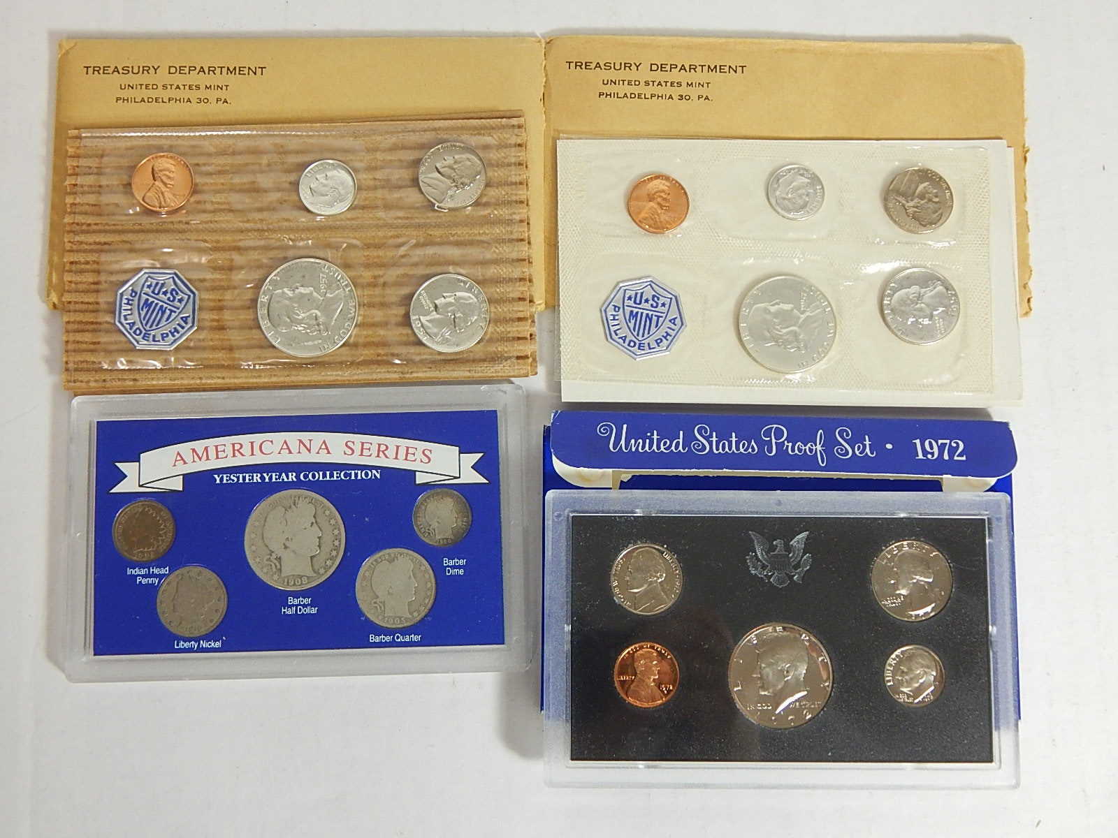 "U.S. Mint Proof Sets and ""Americana Series"" Set"