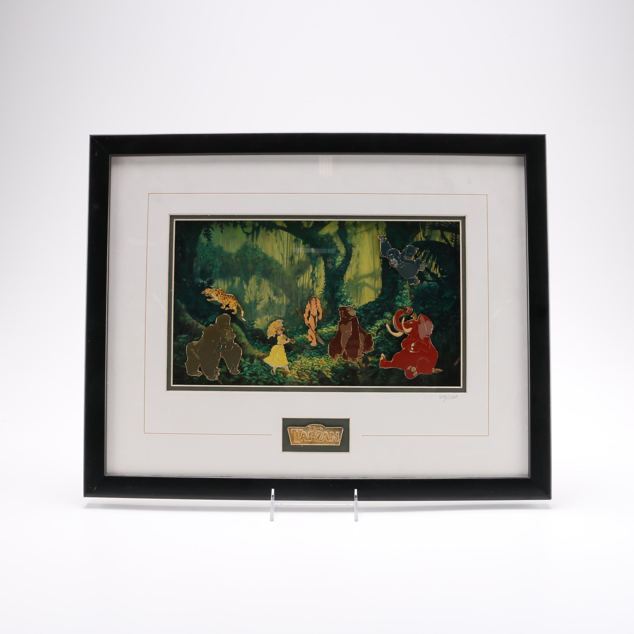 "Limited Edition Framed ""Tarzan"" Pin Set"
