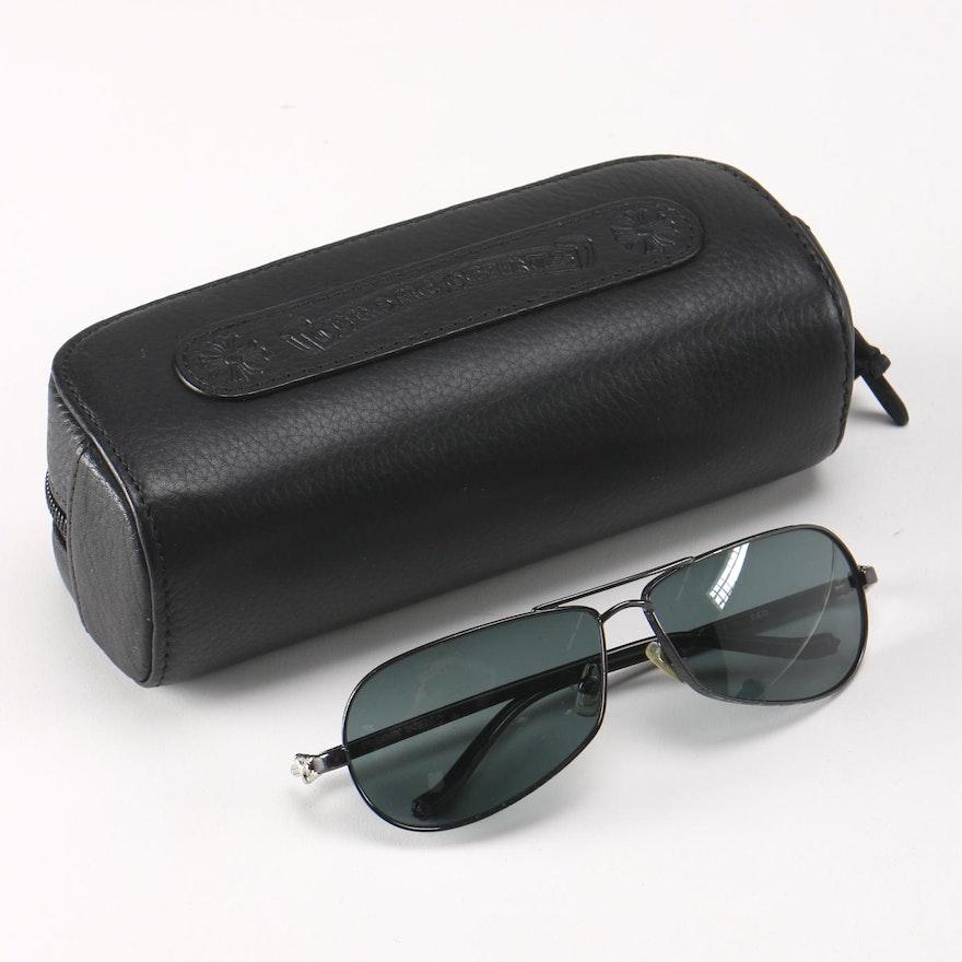 a090a3089619 Chrome Hearts Sunglasses and Case   EBTH