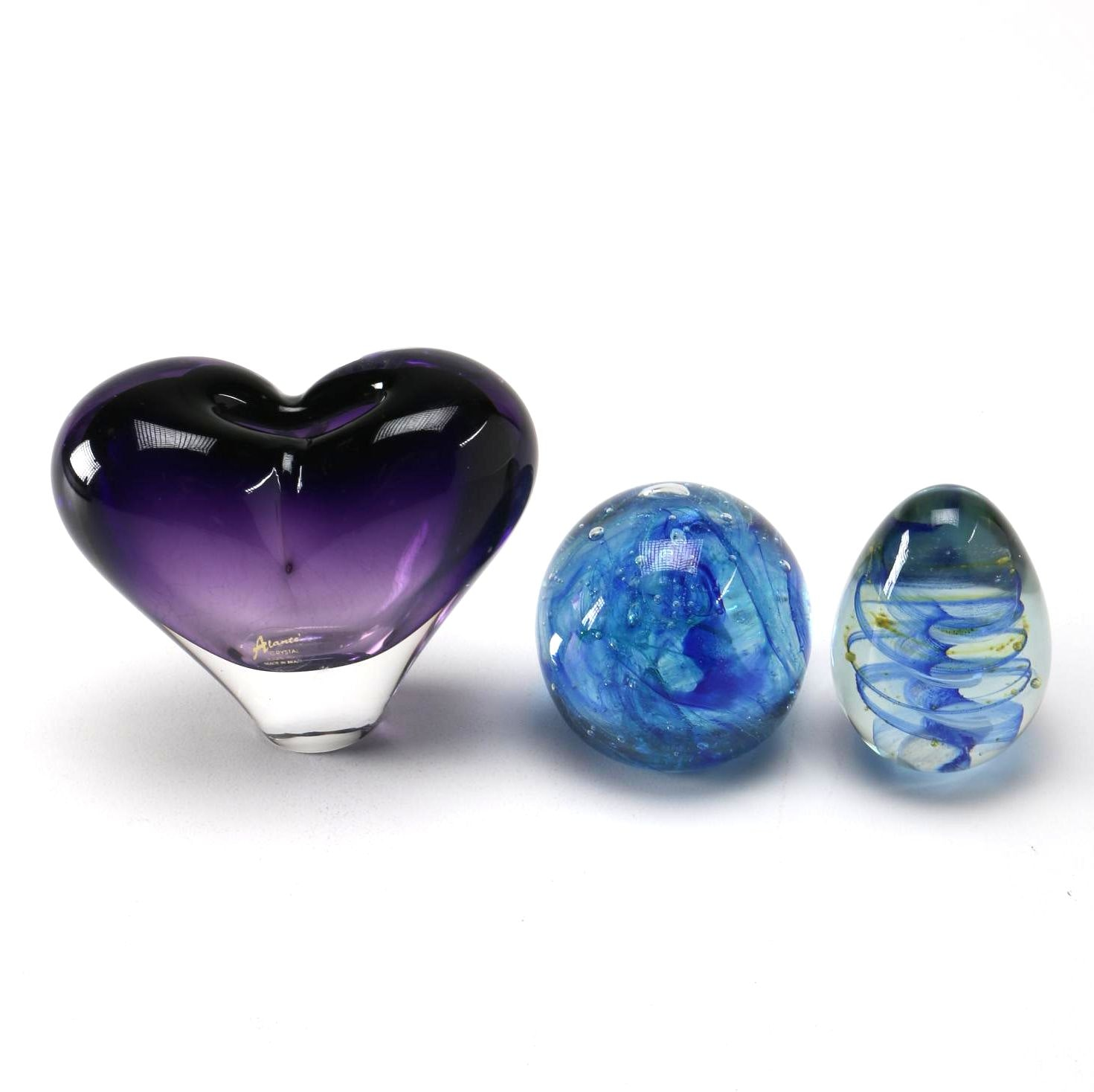 Hand Blown Art Glass With Crystal by Alante