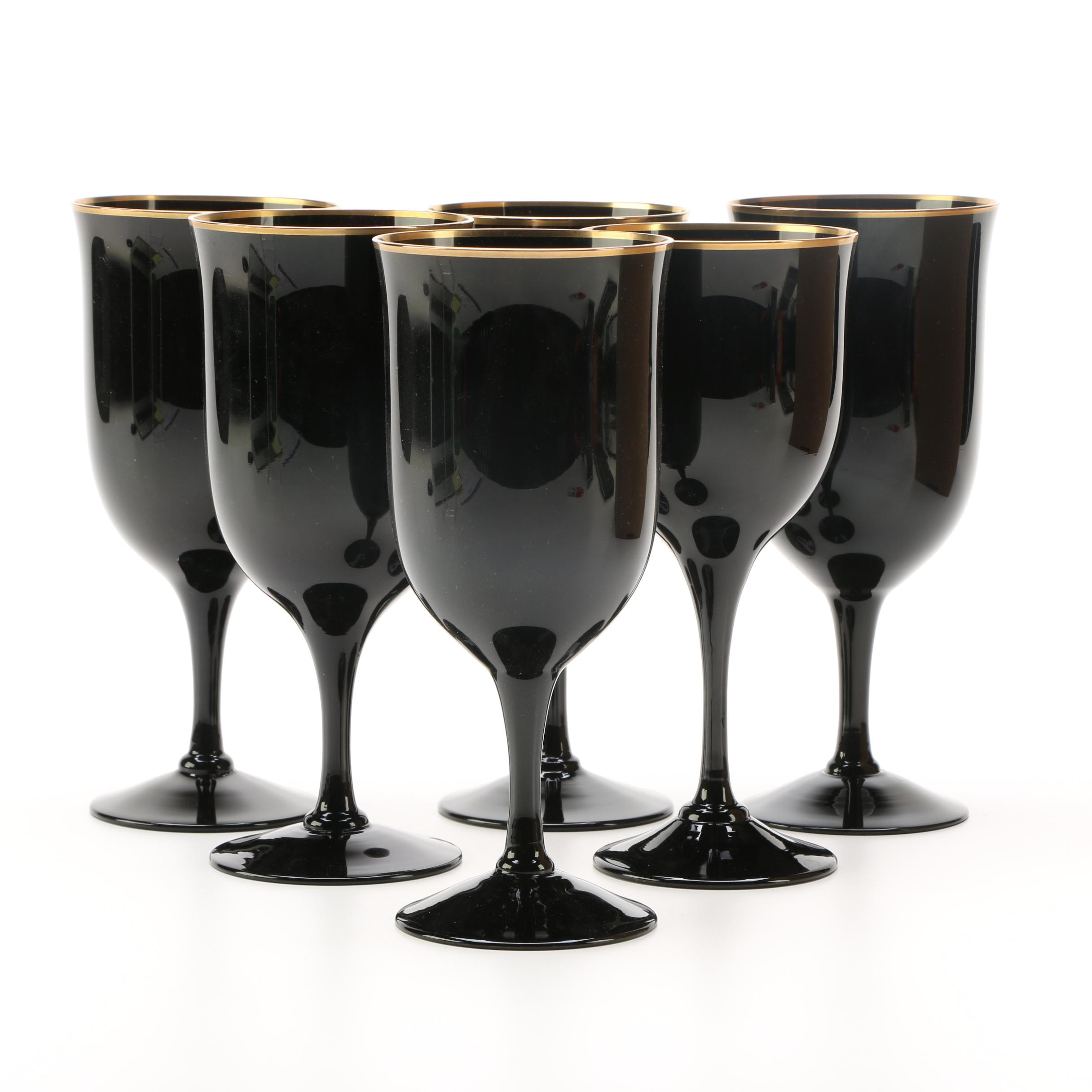 "Noritake ""Remembrance-Ebony"" Stemware"