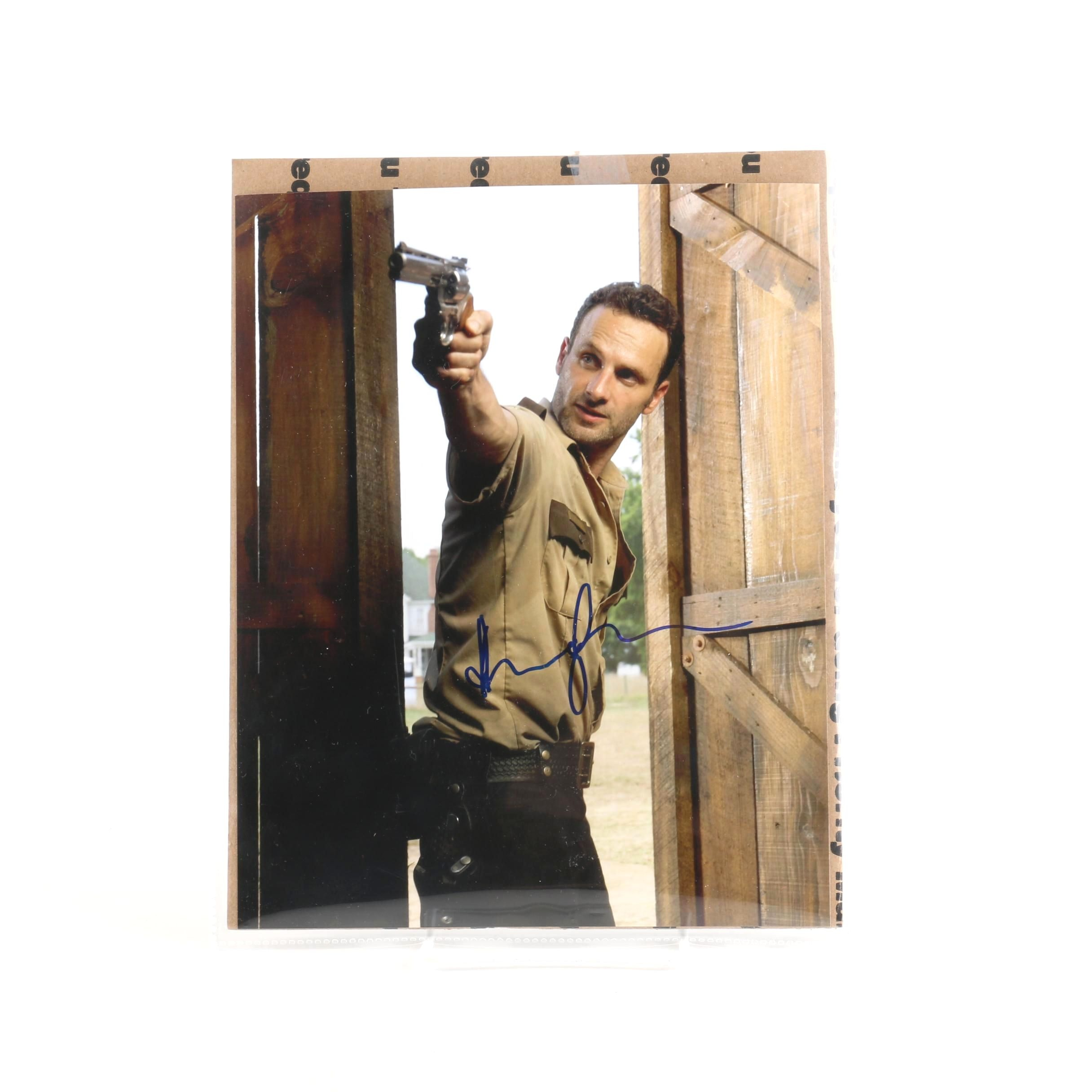 """Autographed Photo of Andrew Lincoln as Rick Grimes in """"The Walking Dead"""""""