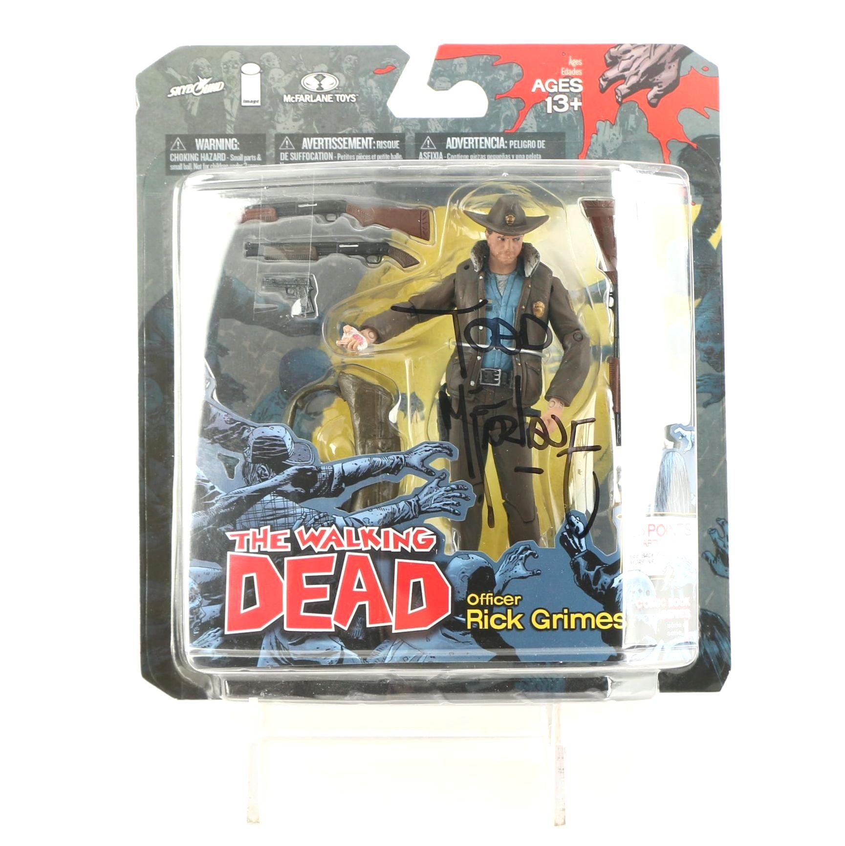 """Todd McFarlane Signed """"Walking Dead"""" Action Figure"""