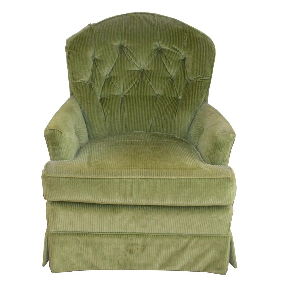 Mid 20th Century Green Corduroy Club Chair