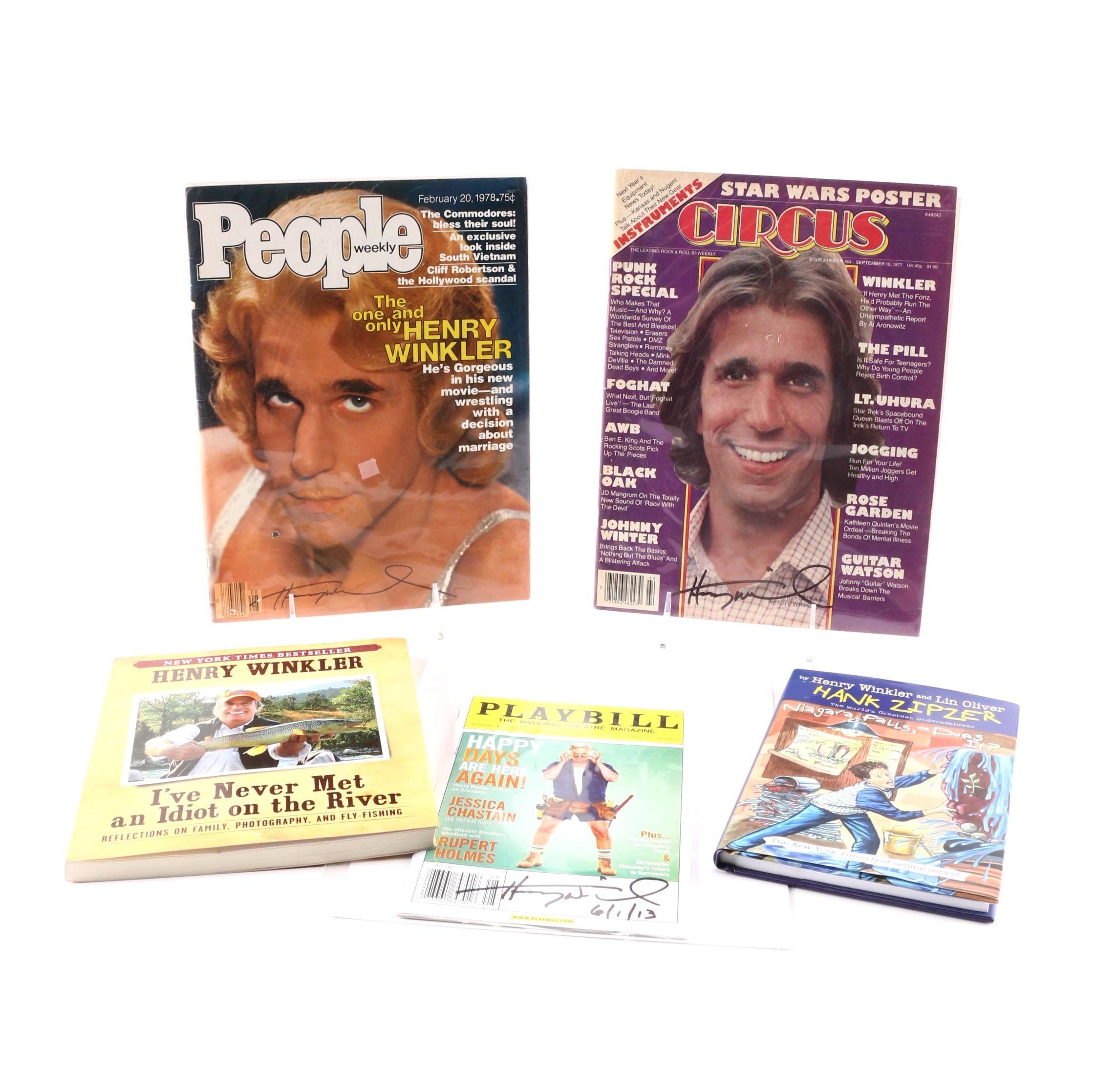 Signed Henry Winkler Books and Magazines