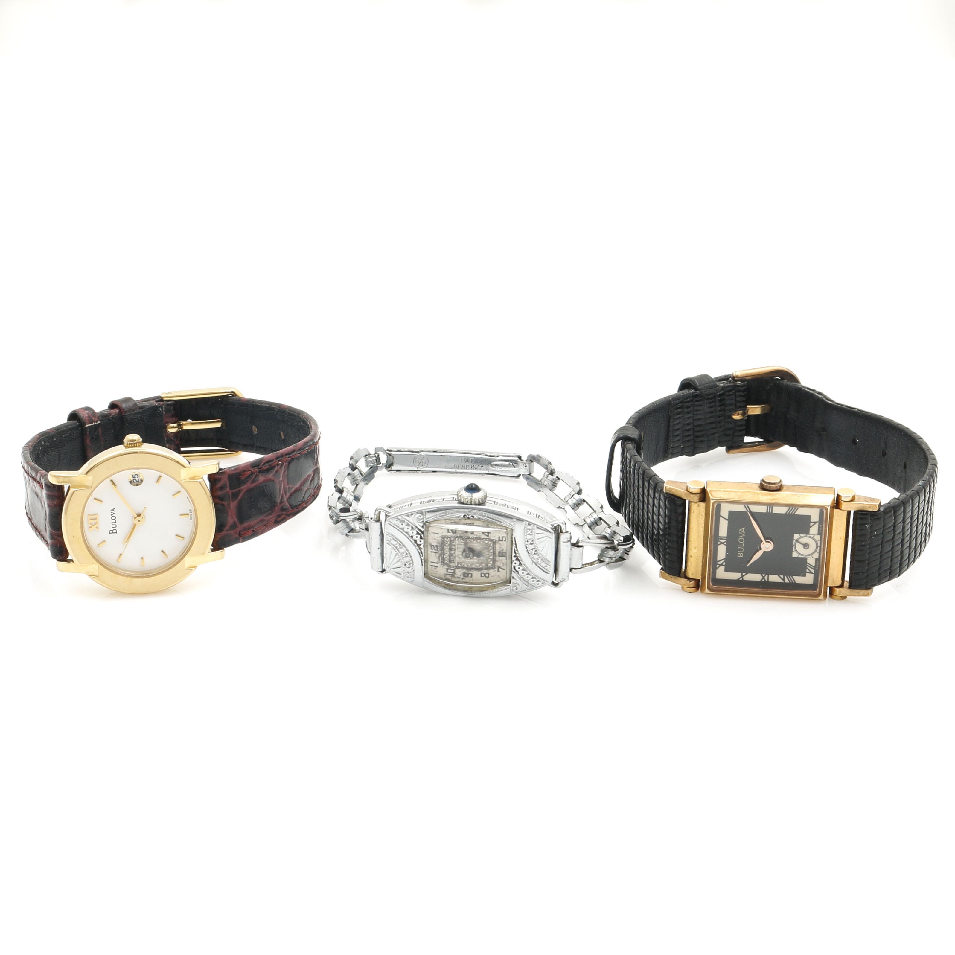 Three Bulova Wristwatches