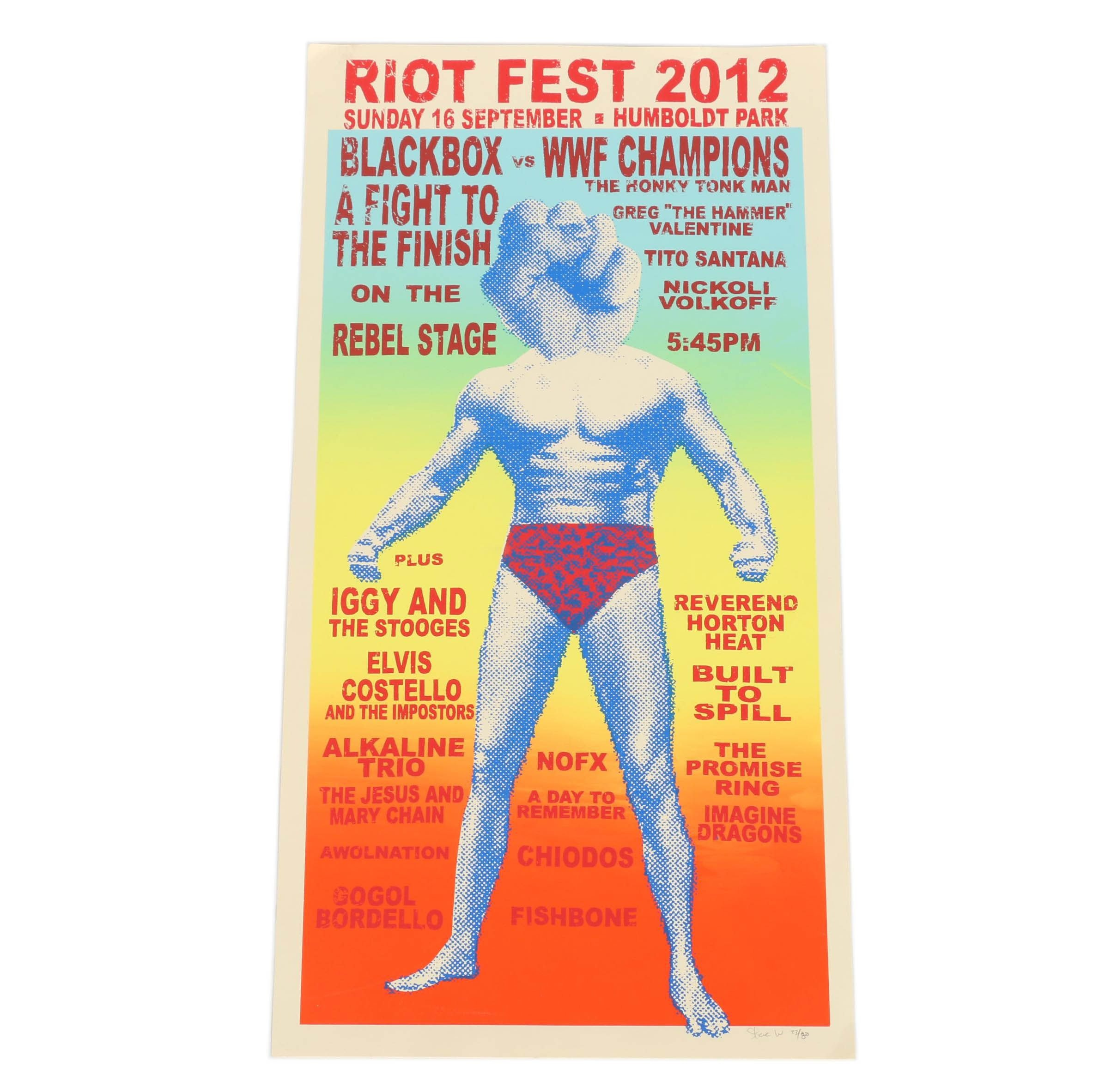 Steve Walters Limited Edition Riot Fest Chicago Concert Poster
