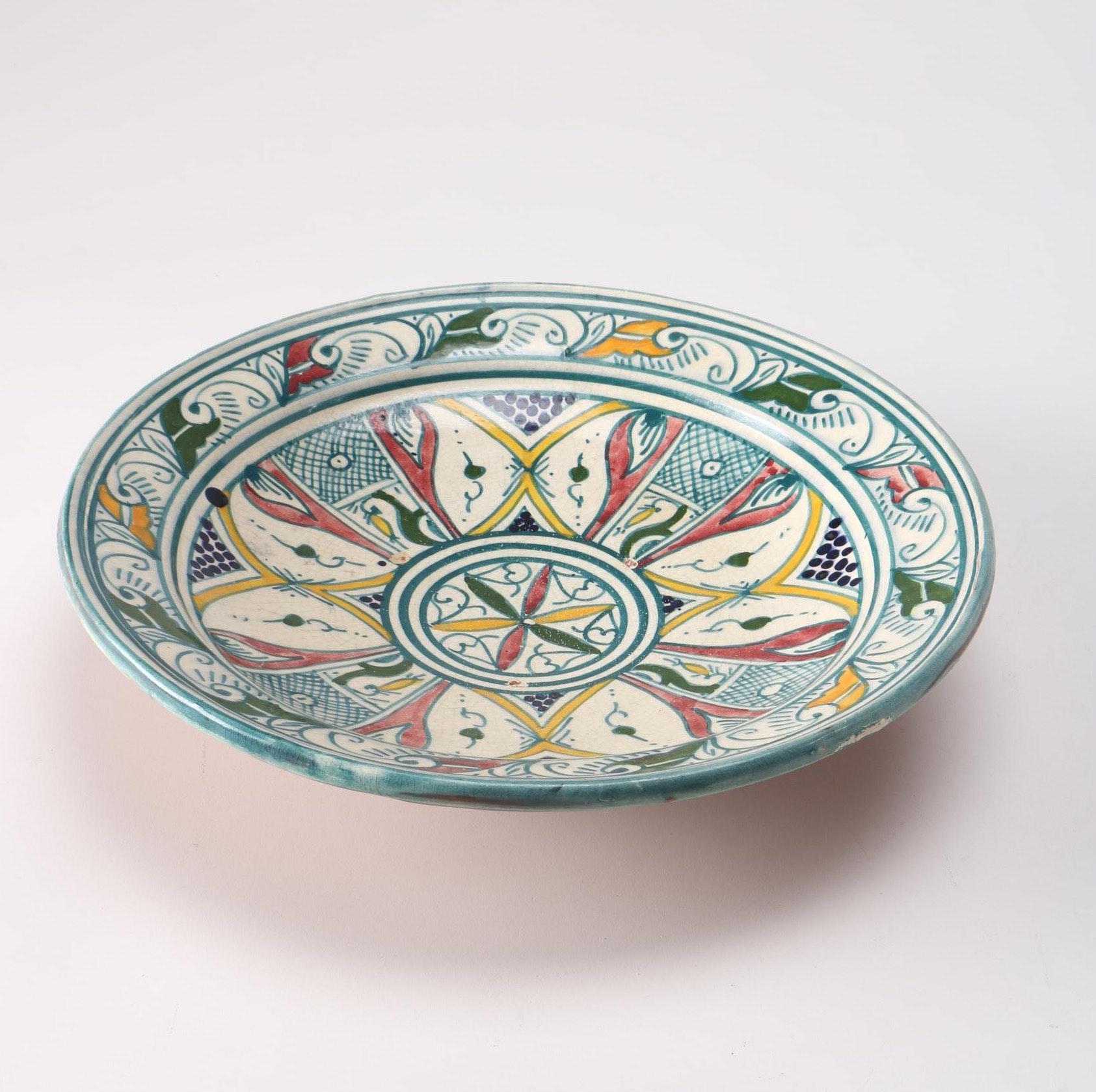 Hand-Painted Hand Thrown Terracotta Serving Platter