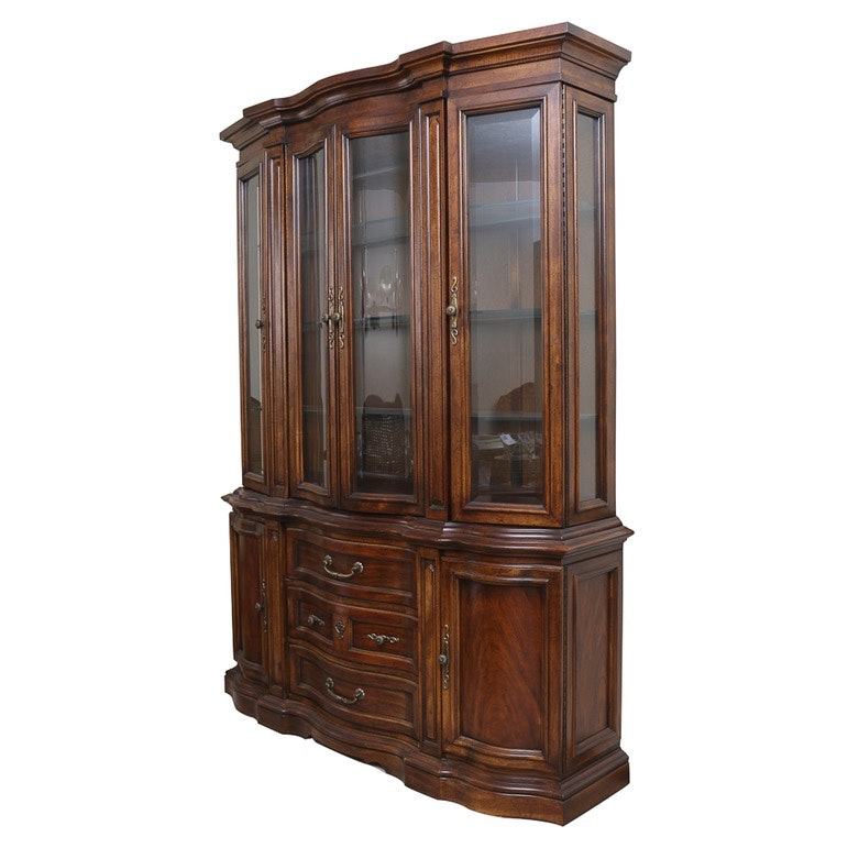 China and Silver Display and Storage Cabinet
