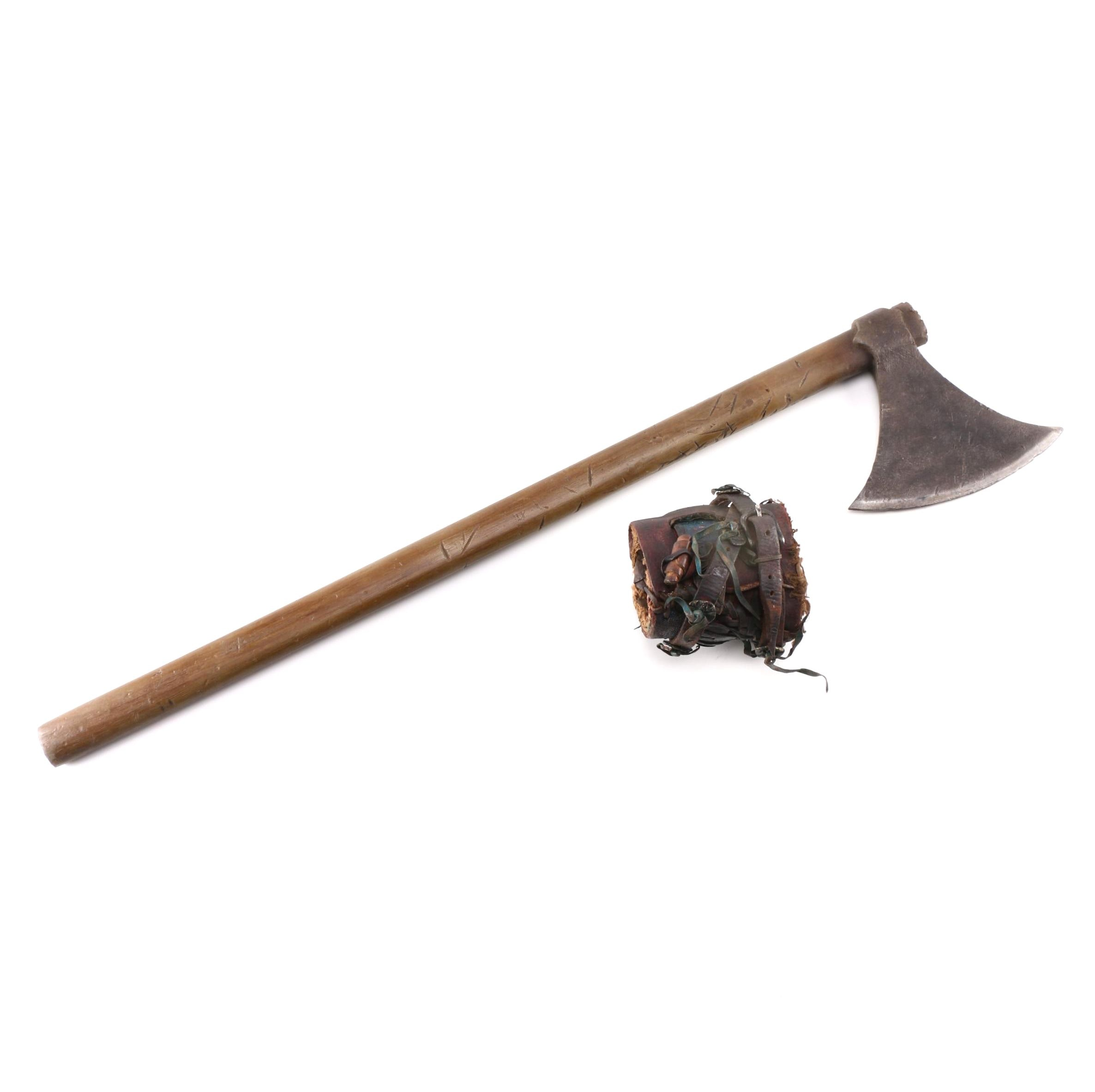 """""""Spartacus"""" Screen Used Thracian Axe and Cuff"""