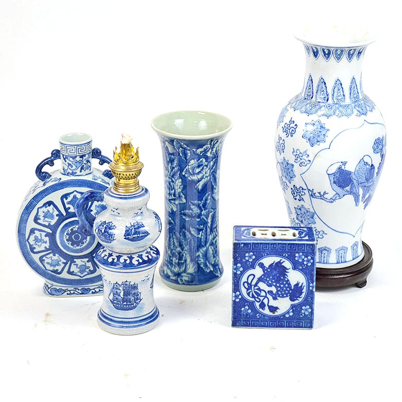 Collection of Chinese Blue and White Porcelain Decor