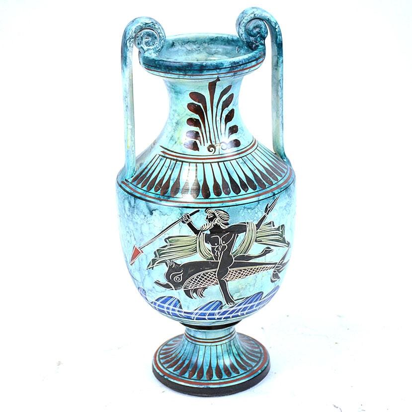 Giannis Rhodes Handmade Grecian Ceramic Urn
