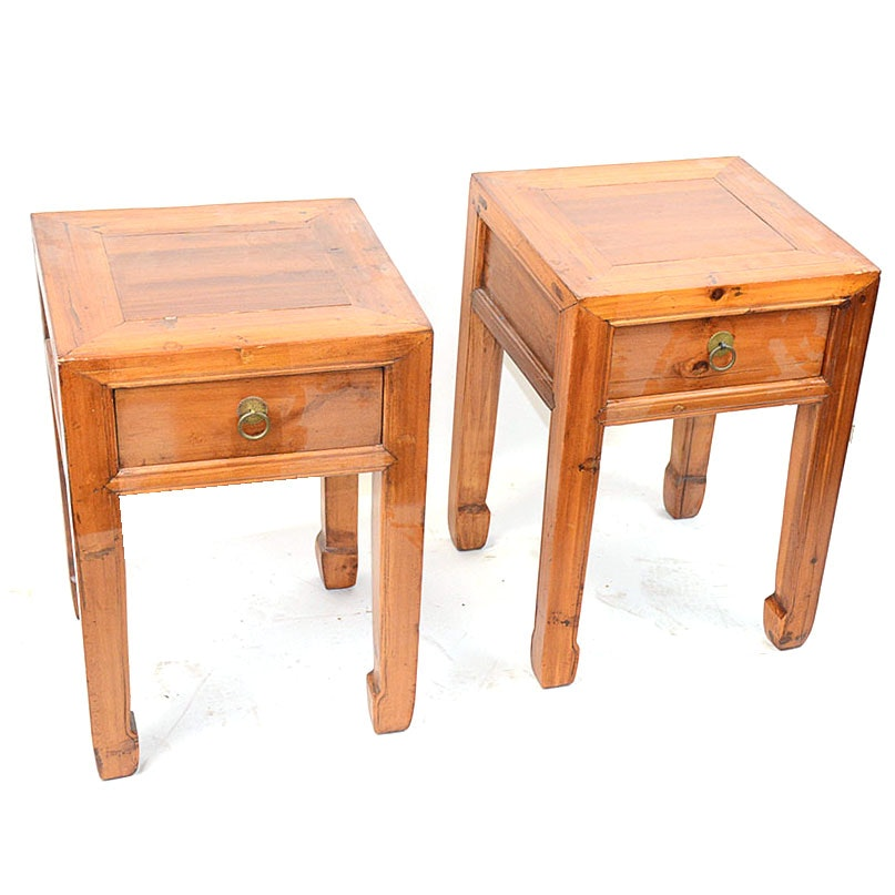 Chinese Pine Side Tables