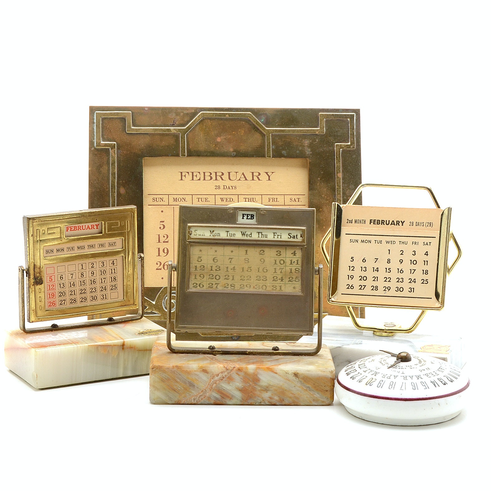 Collection of Vintage Perpetual Calendars