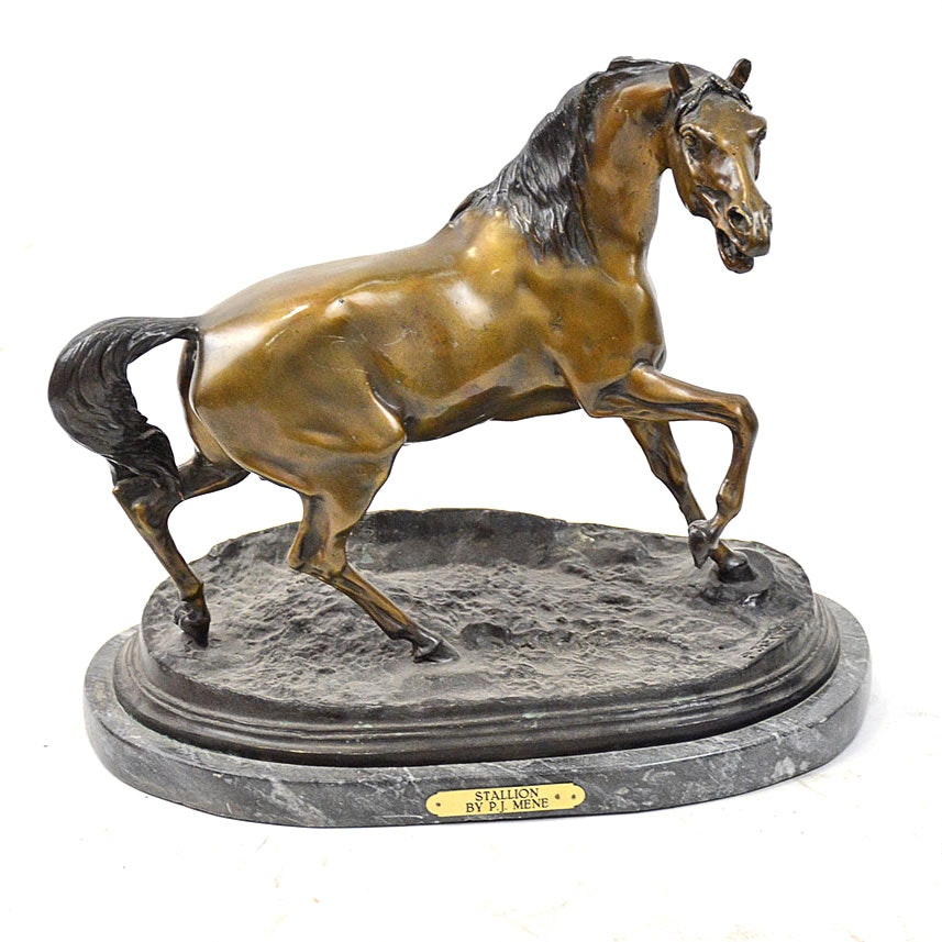 "Reproduction Bronze After PJ Mene ""Stallion"""