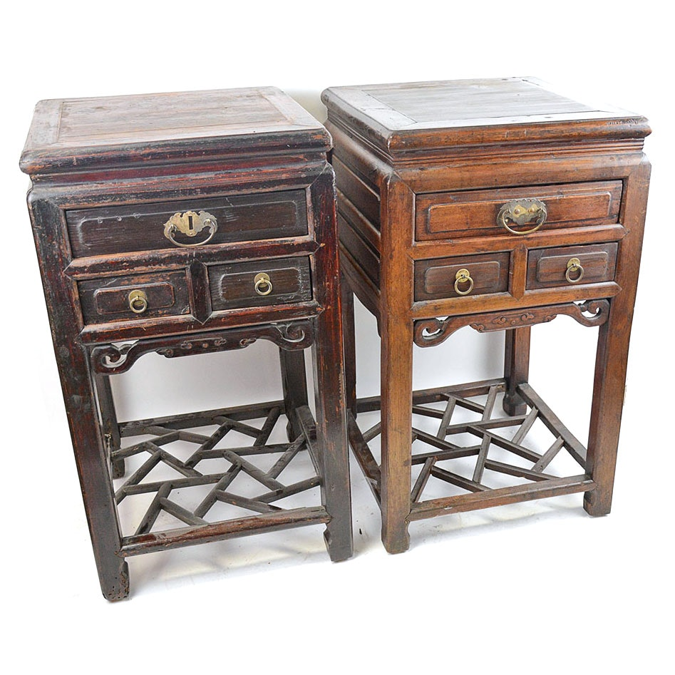 Antique Chinese End Table Pair ...
