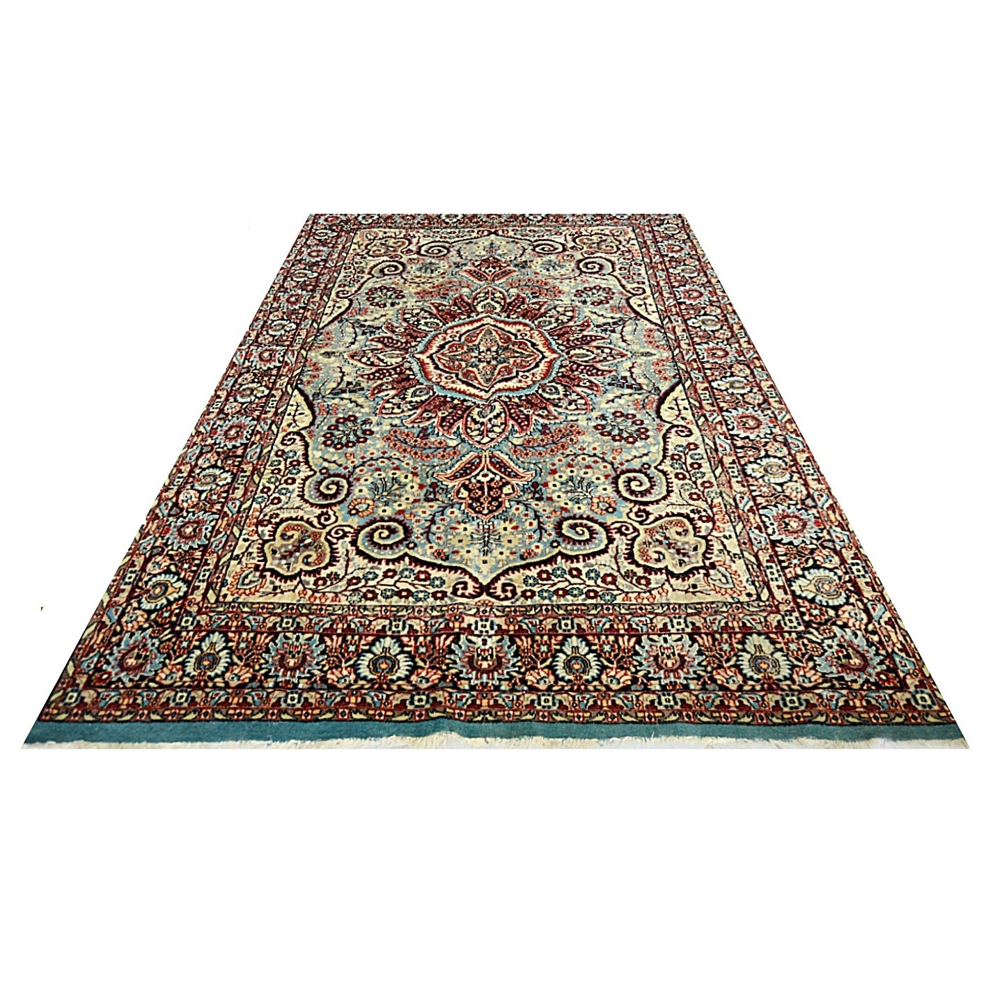 Vintage Hand Knotted Persian Style Rug