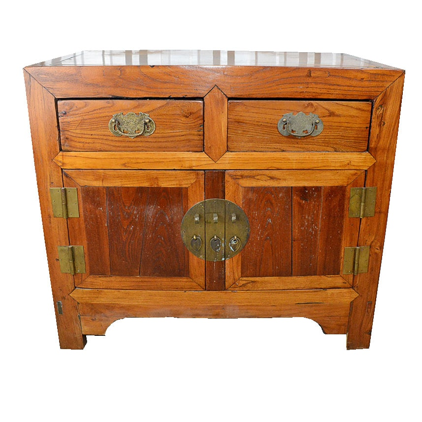 Vintage Chinese Pine Cabinet