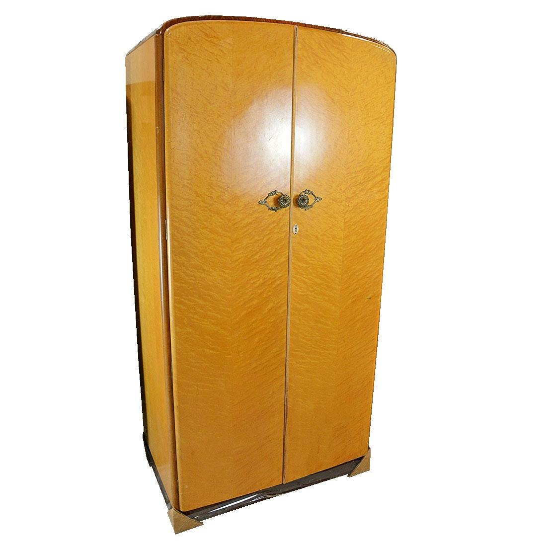 Art Deco Birdseye Maple Wardrobe by Majority Furniture