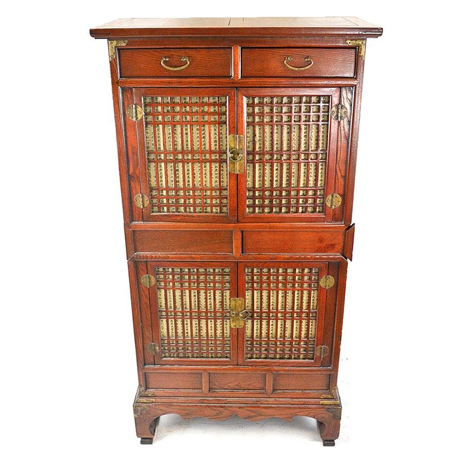 Antique Mahogany Chinese Cabinet