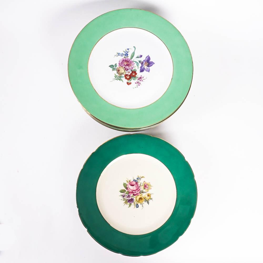 Puls Czechoslovakian Porcelain Charger Plates